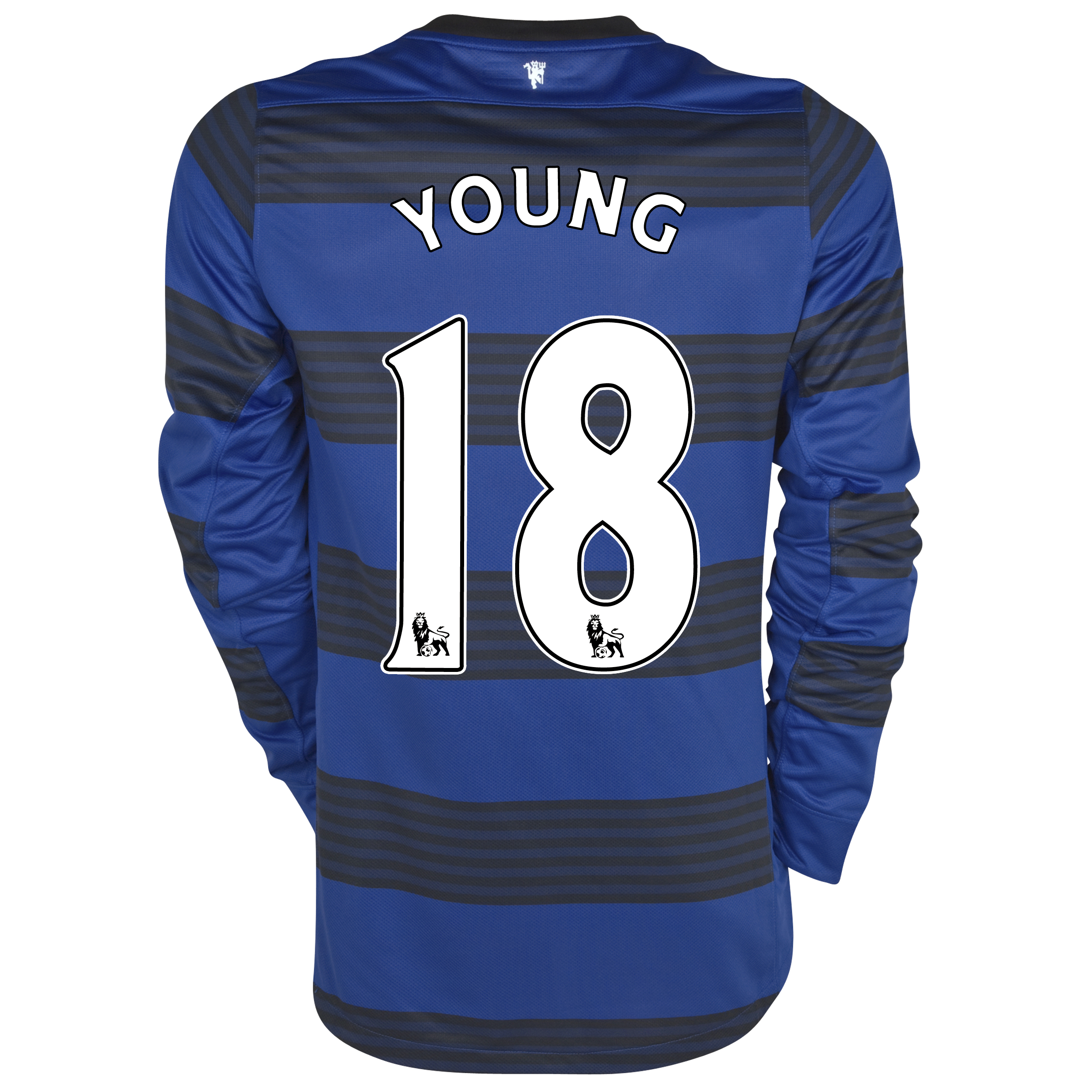Manchester United Away Shirt 2011/12 - Long Sleeved - Kids with Young 18 printing