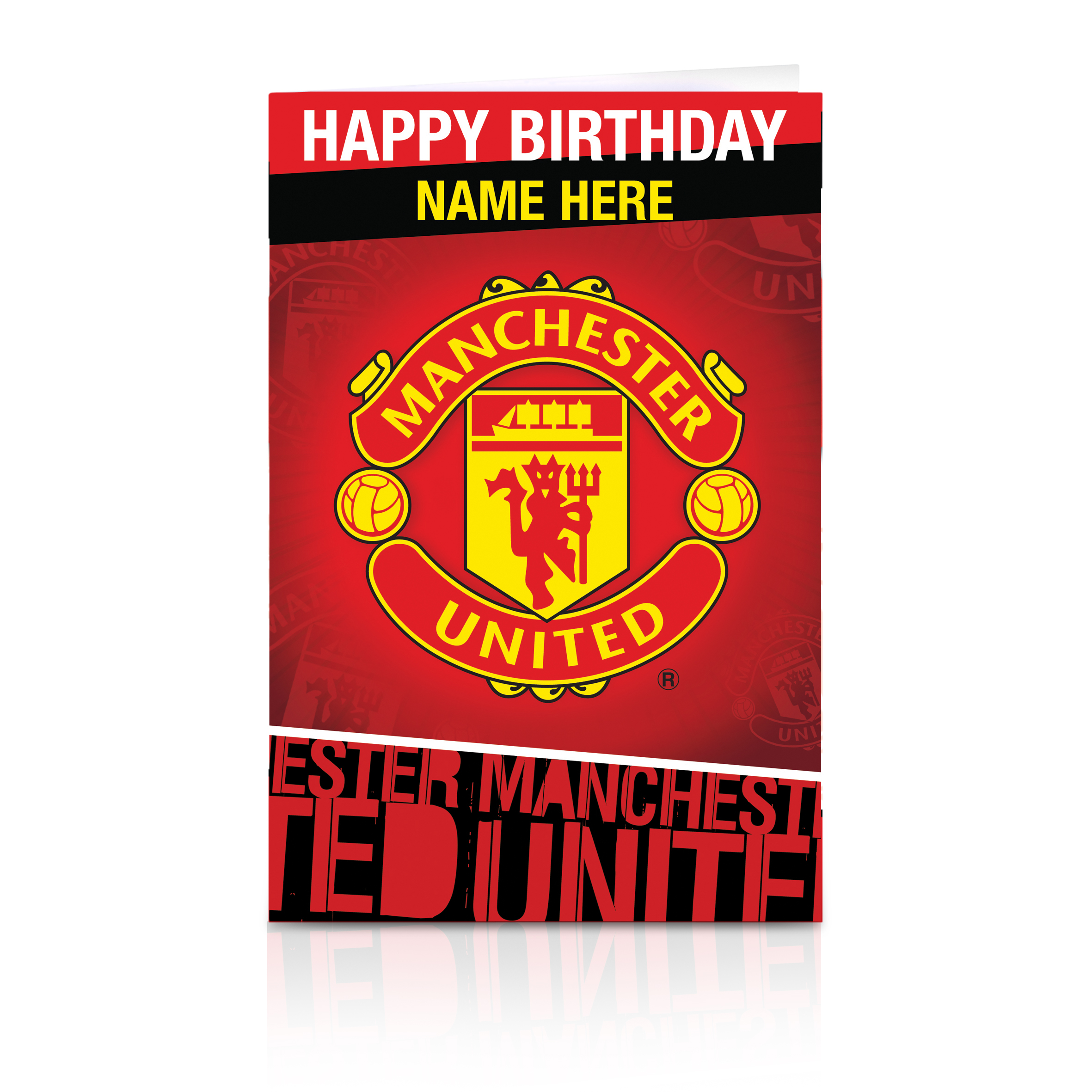 Manchester United Personalised Happy Birthday Card - Crest