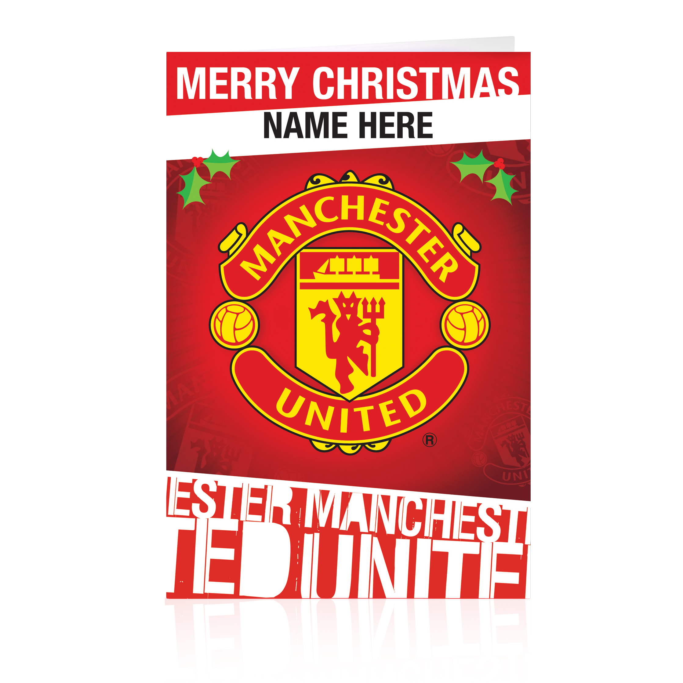 Manchester United Personalised Christmas Card