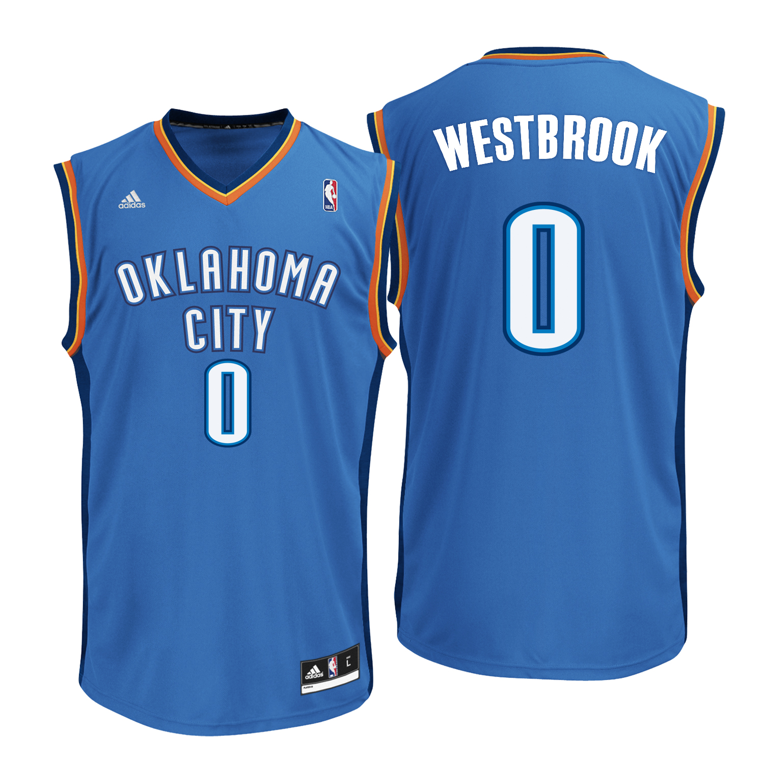 Oklahoma City Thunder Road Replica Jersey -Russell Westbrook - Mens