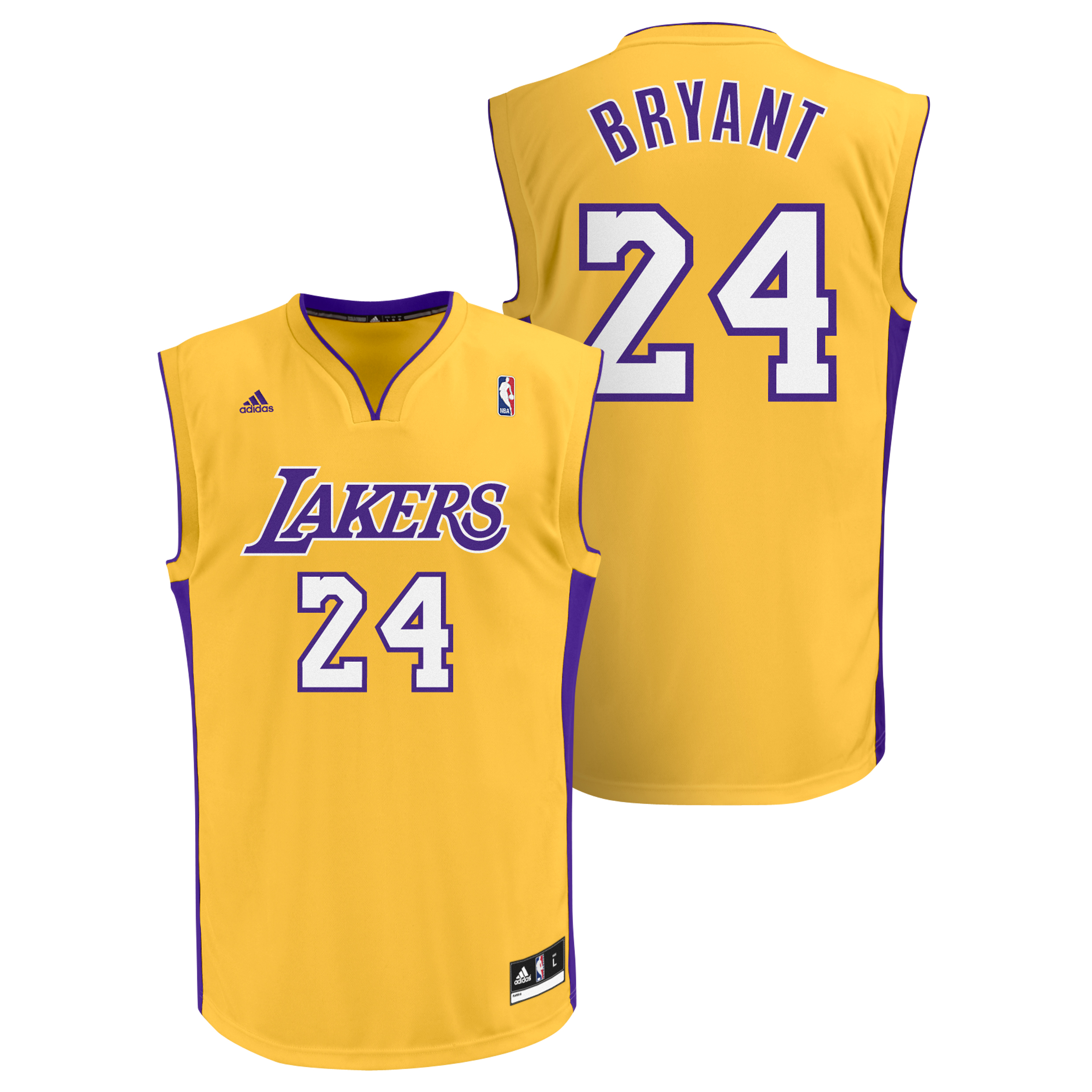Los Angeles Lakers Home Gold Replica Jersey - Kobe Bryant - Mens