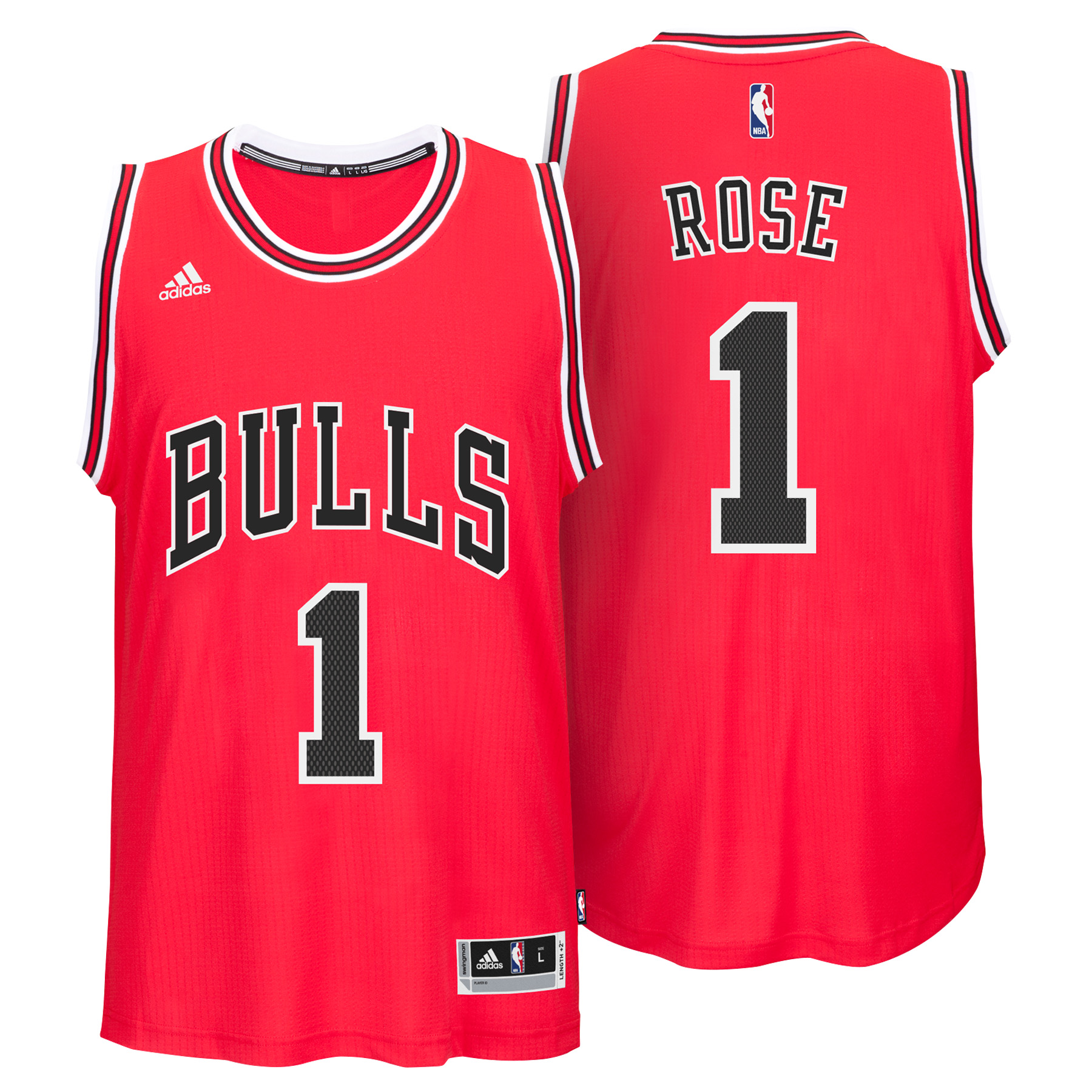 Chicago Bulls Road Swingman Jersey - Derrick Rose - Mens