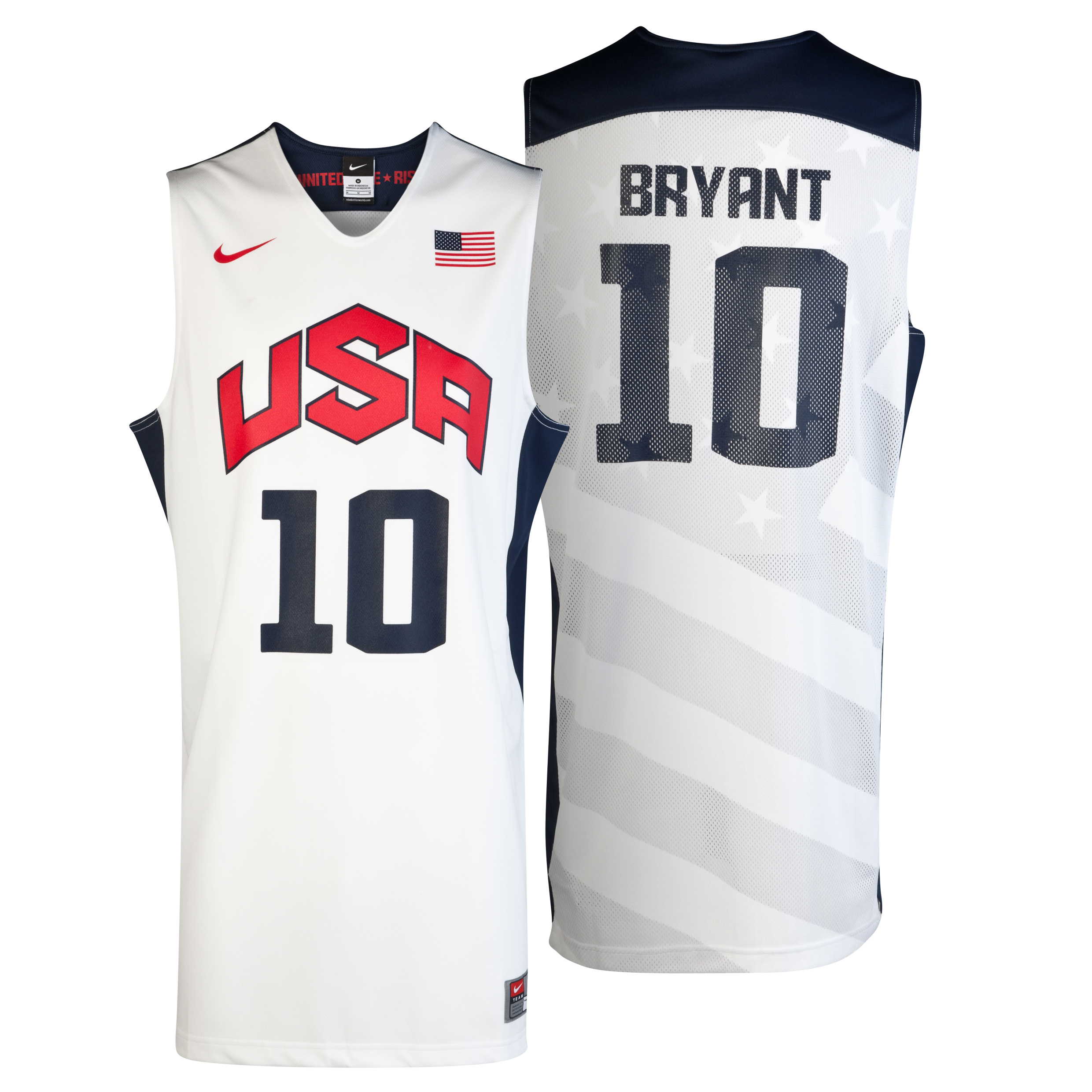 Nike USA Replica Home Jersey - Bryant - White