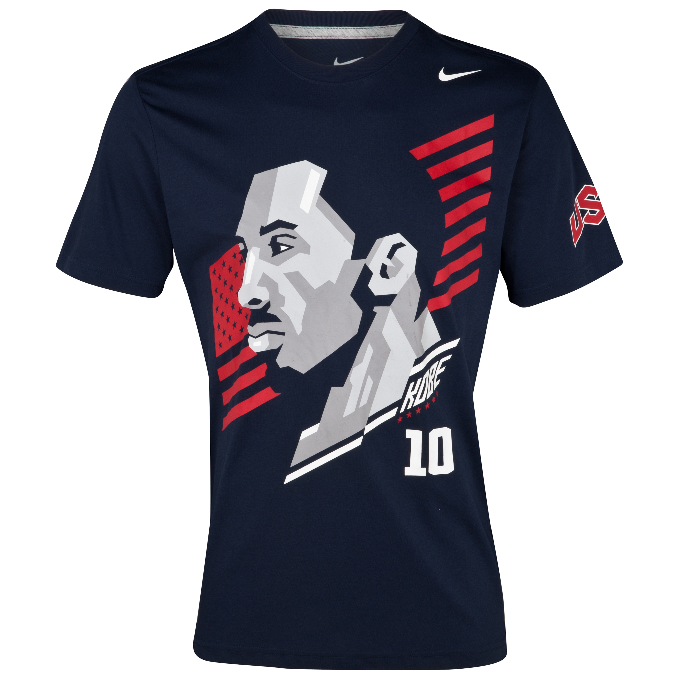 Nike USA Kobe Hero T-Shirt - Obsidian/ DK Grey Heather