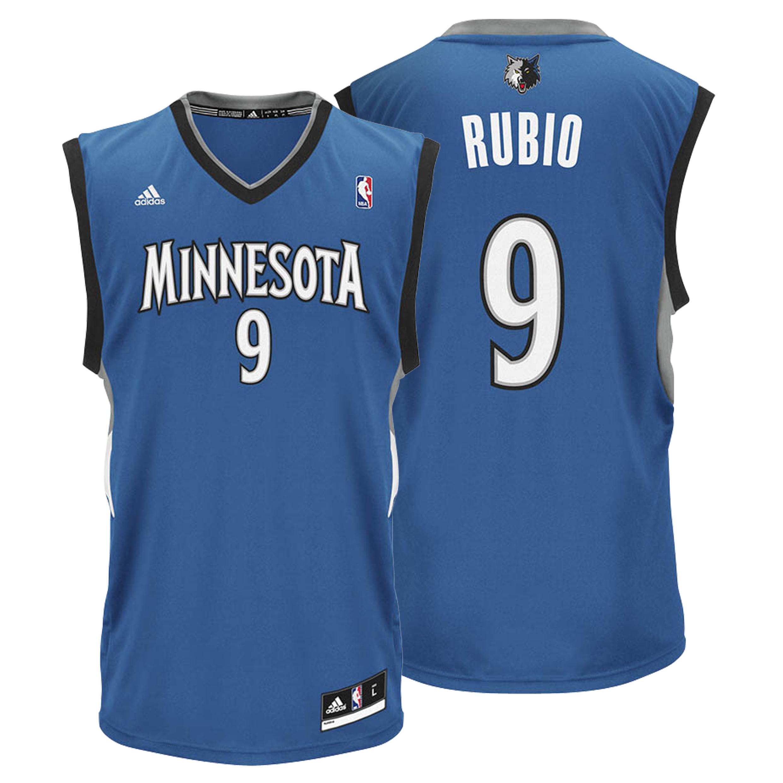 Minnesota Timberwolves Road Replica Jersey - Ricky Rubio - Mens