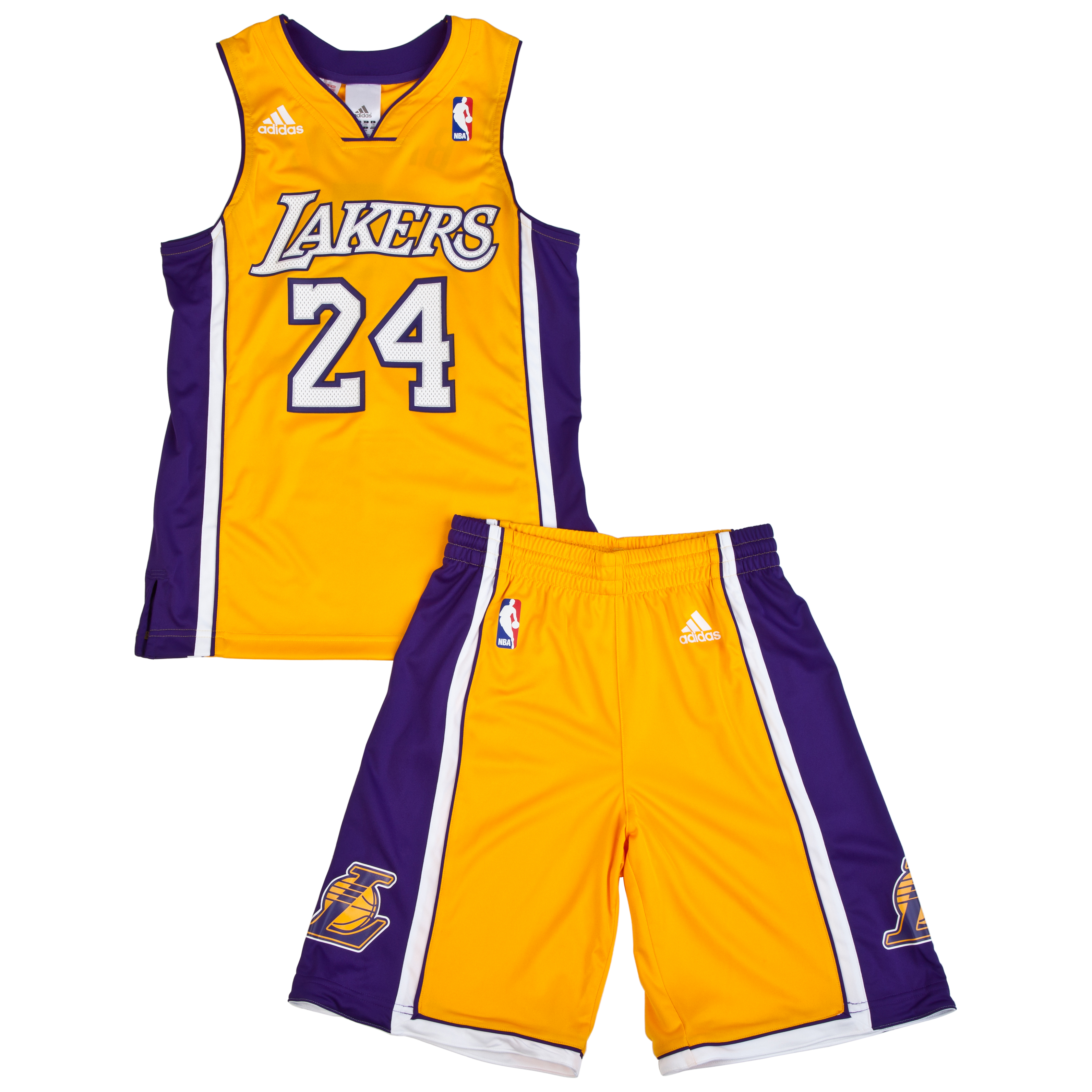 Los Angeles Lakers Home Gold Replica Jersey & Shorts - Kobe Bryant - Junior