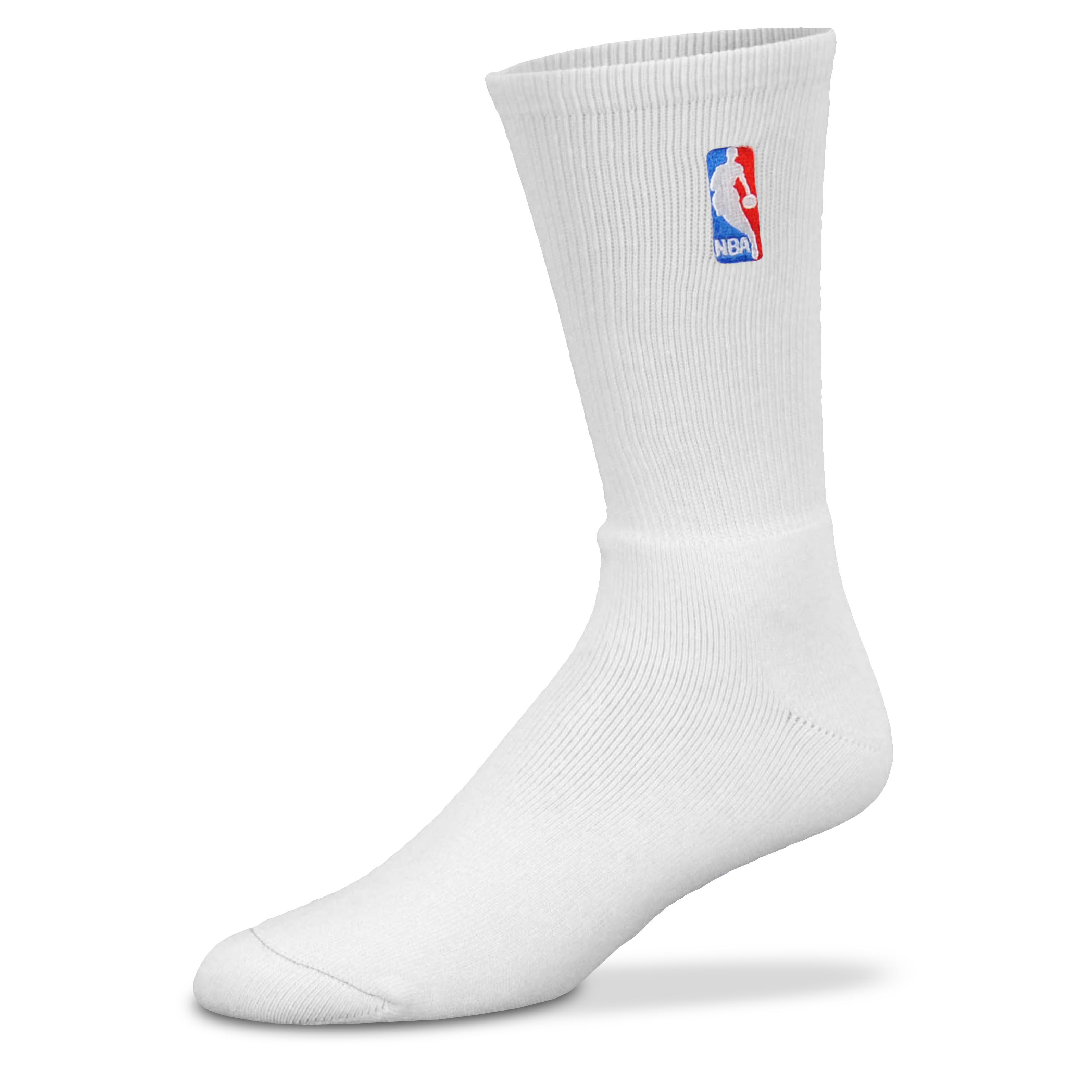 NBA Logoman Crew Sock - White