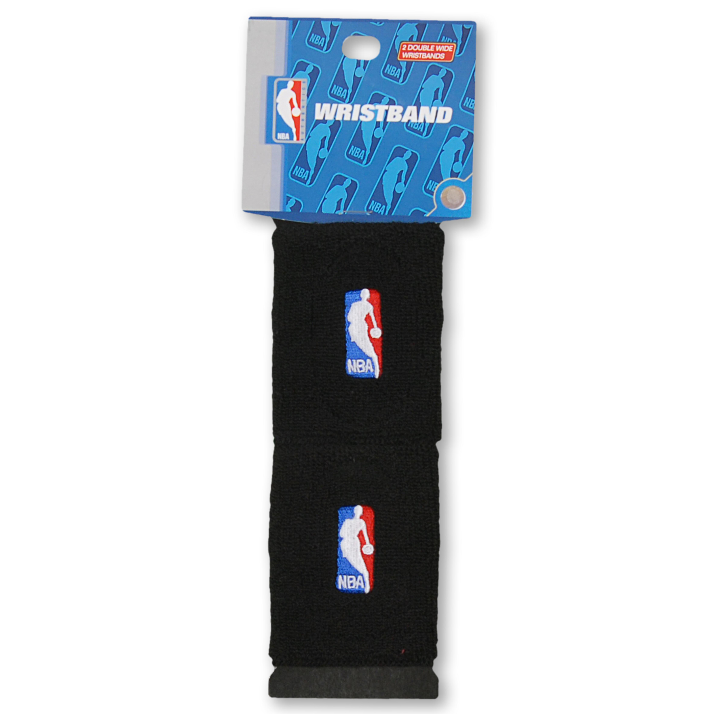 NBA Logoman Wristbands - Black
