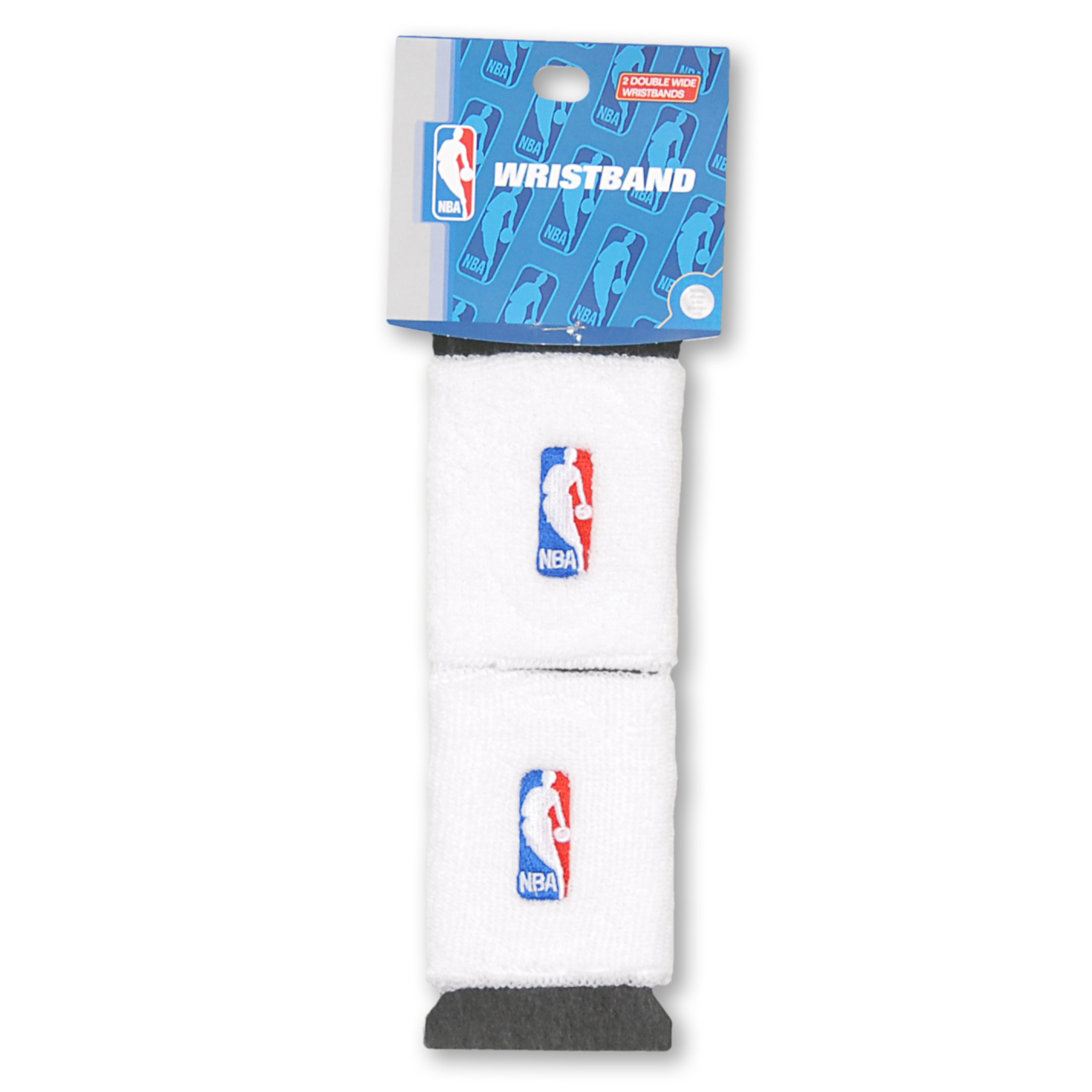 NBA Logoman Wristbands - White