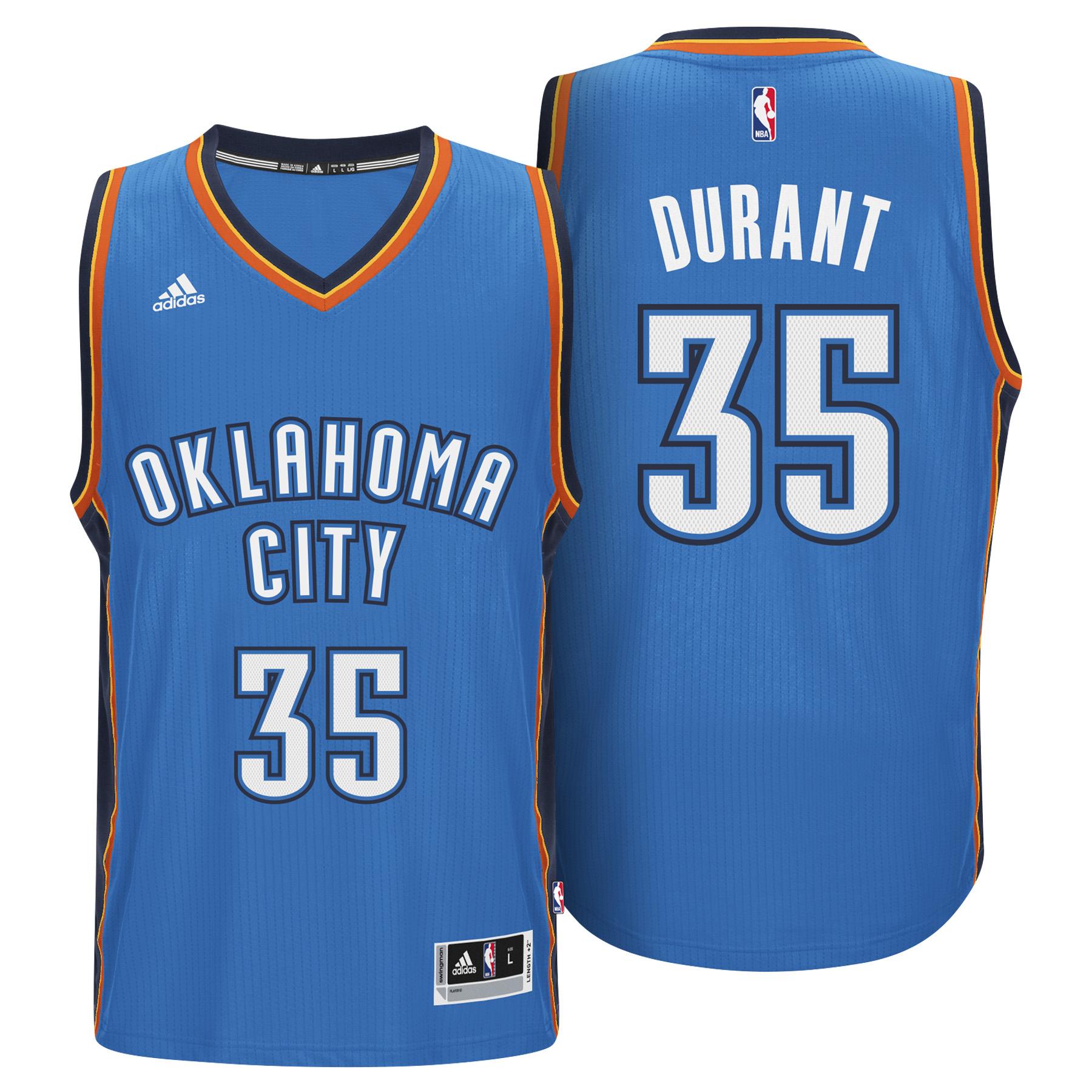 Oklahoma City Thunder Road Swingman Jersey Kevin Durant  Mens