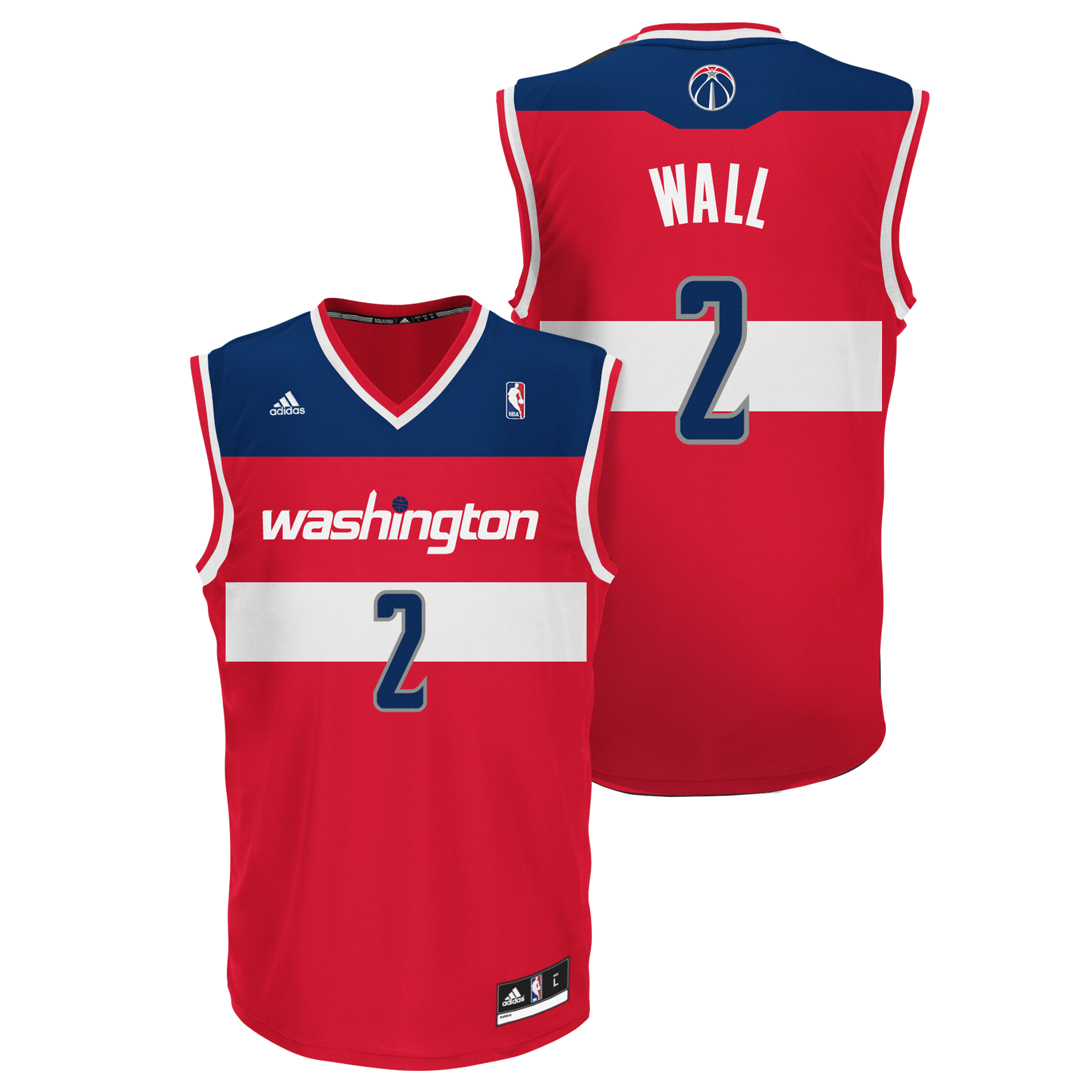 Washington Wizards Road Replica Jersey - John Wall - Mens