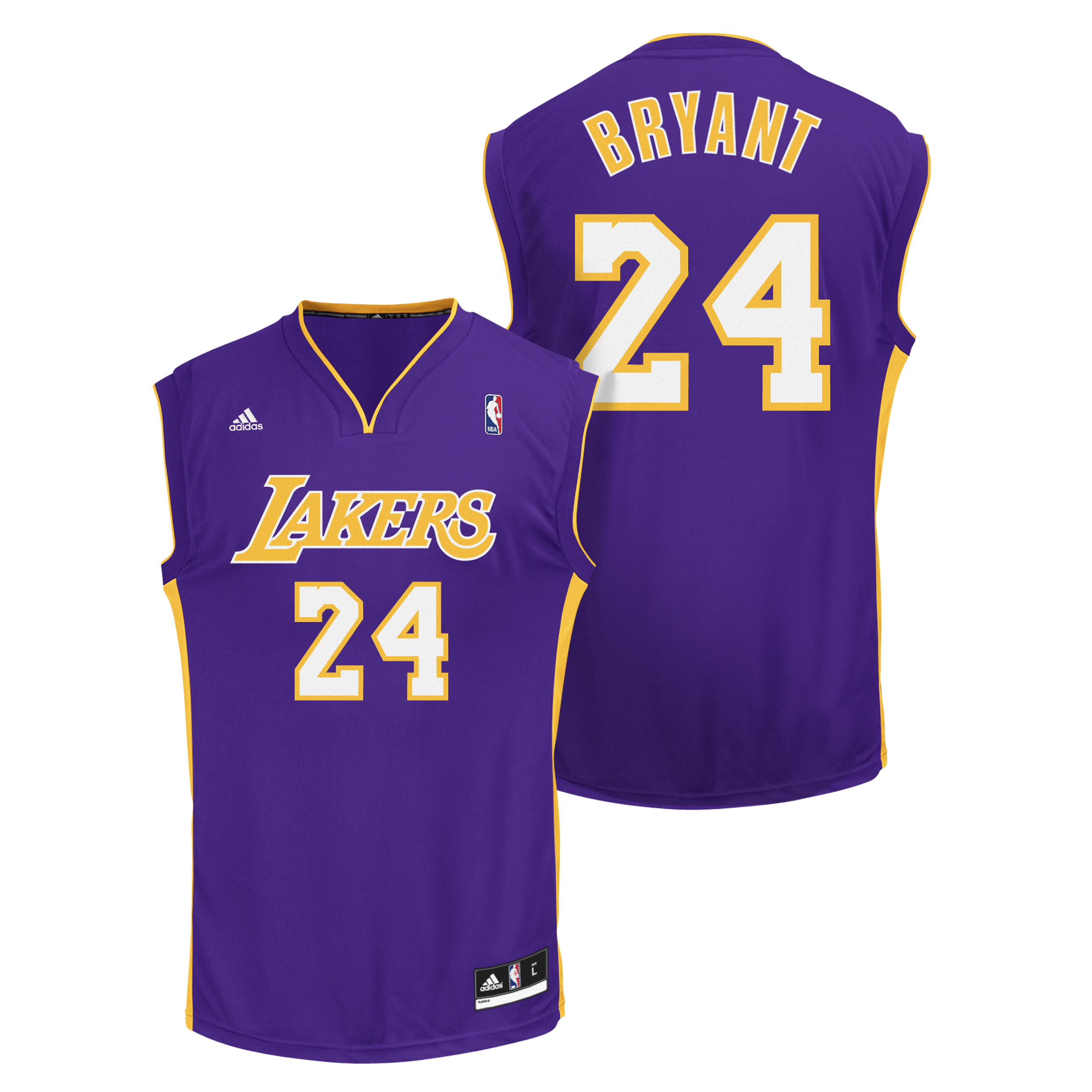 Los Angeles Lakers Road Purple Replica Jersey - Kobe Bryant - Mens