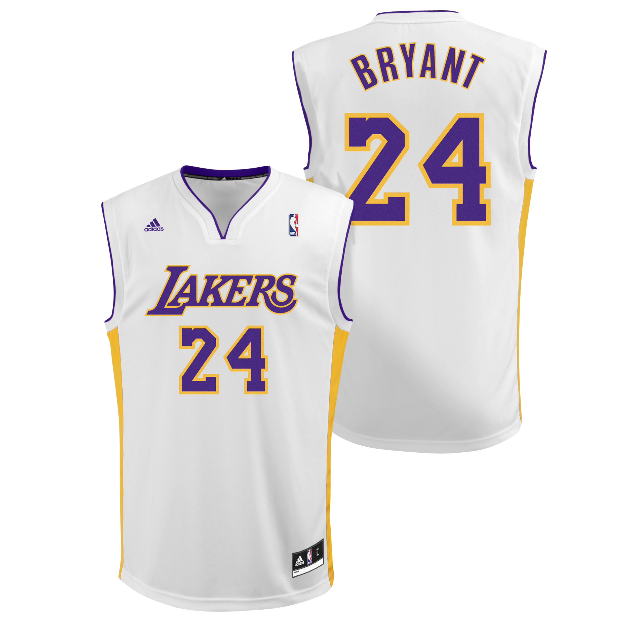 Los Angeles Lakers Alternate Road White Replica Jersey - Kobe Bryant - Mens