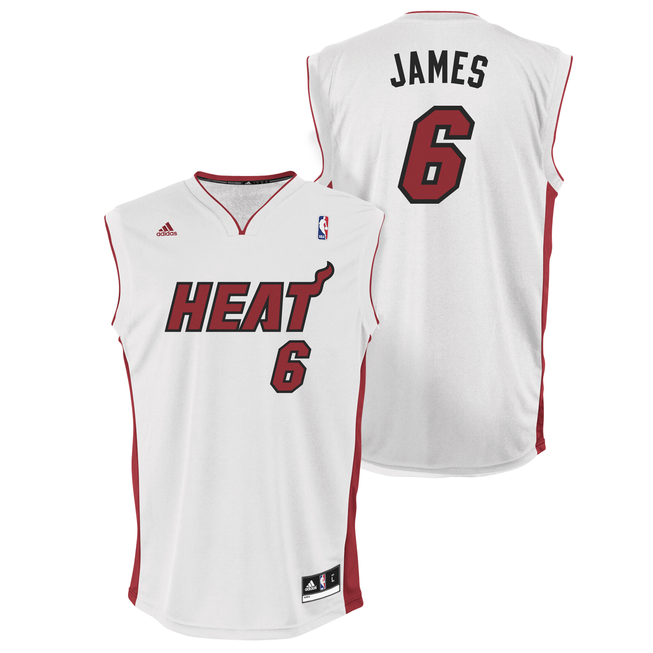 Miami Heat Home Replica Jersey - LeBron James - Mens
