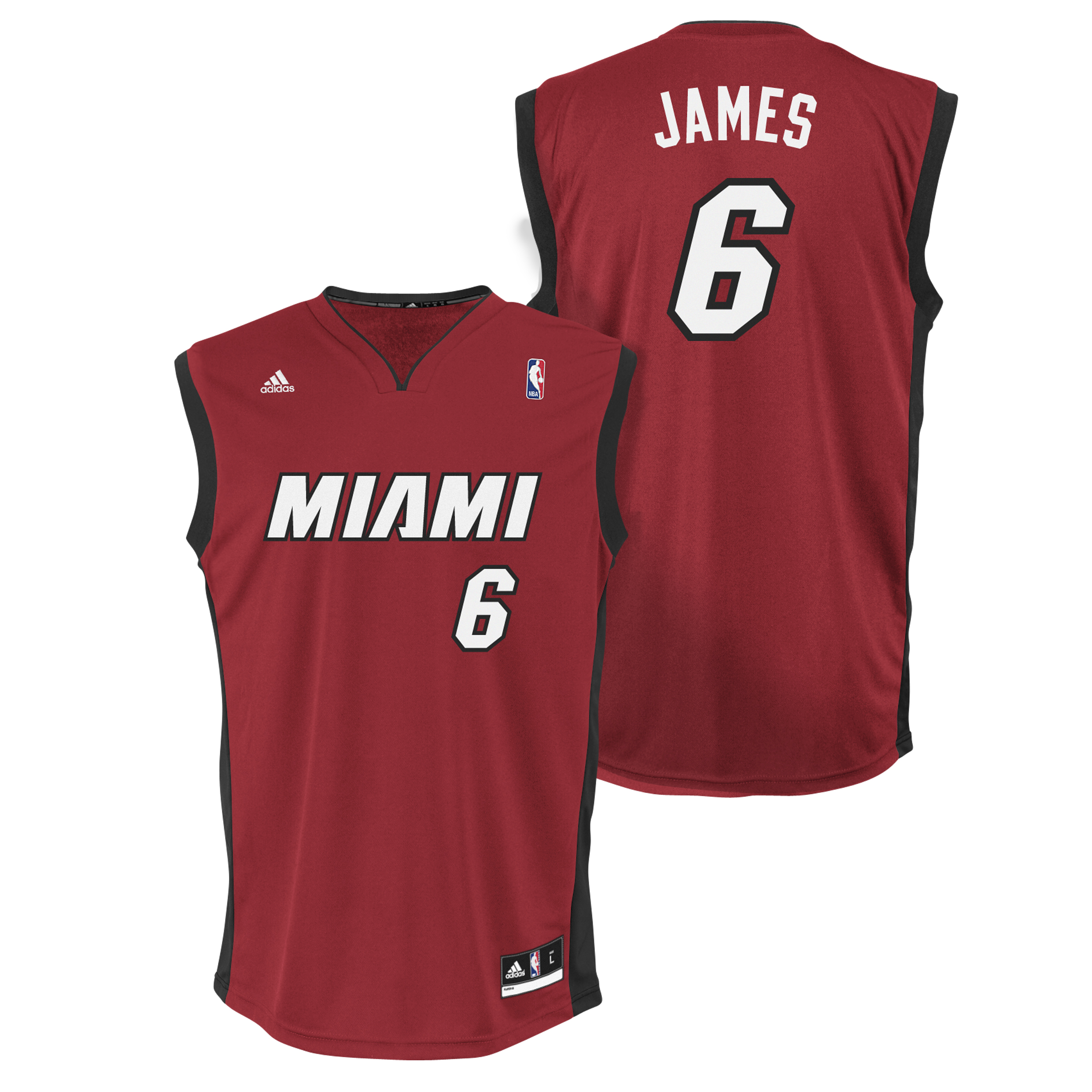 Miami Heat Alternate Road Replica Jersey - LeBron James - Mens