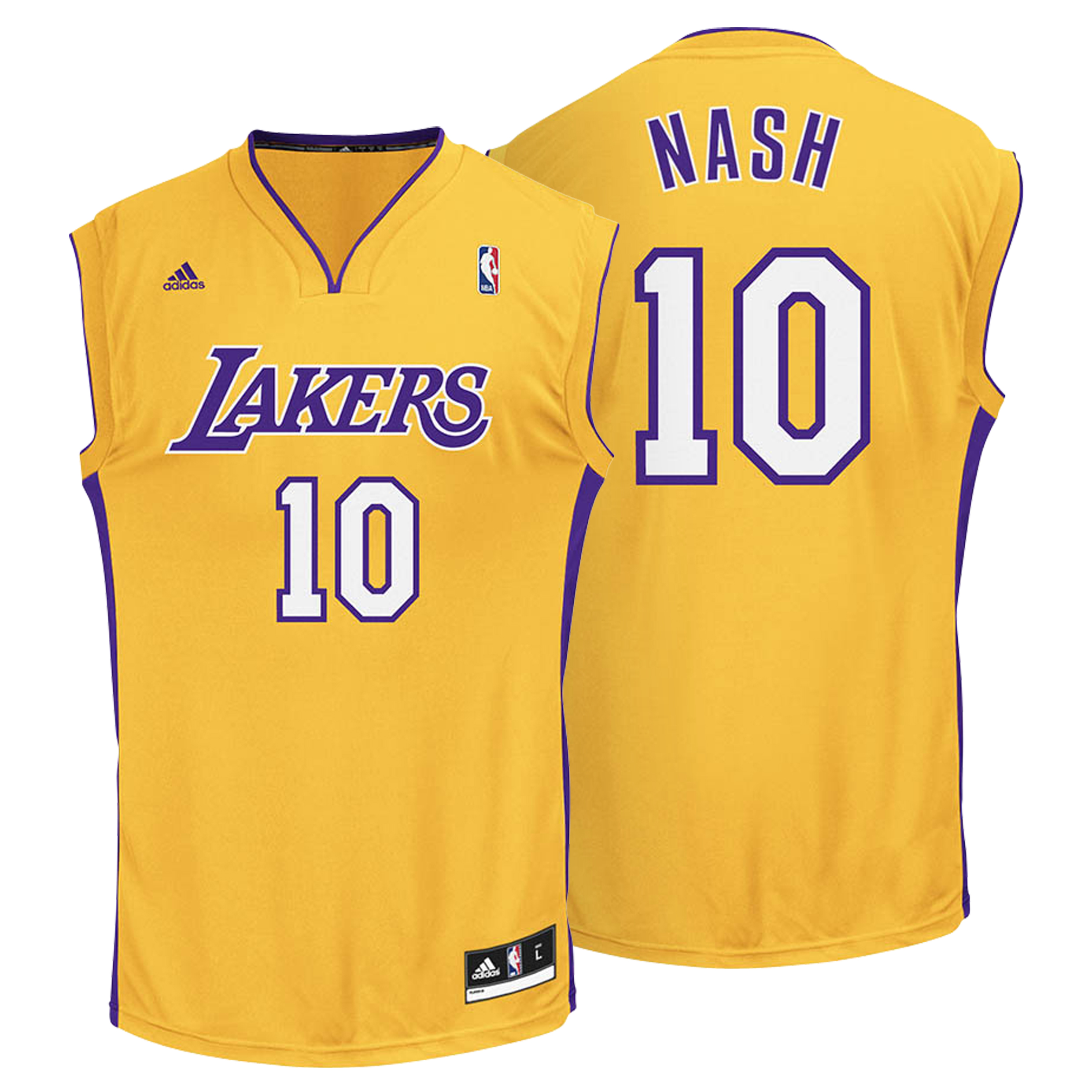 Los Angeles Lakers Home Gold Replica Jersey - Steve Nash - Mens
