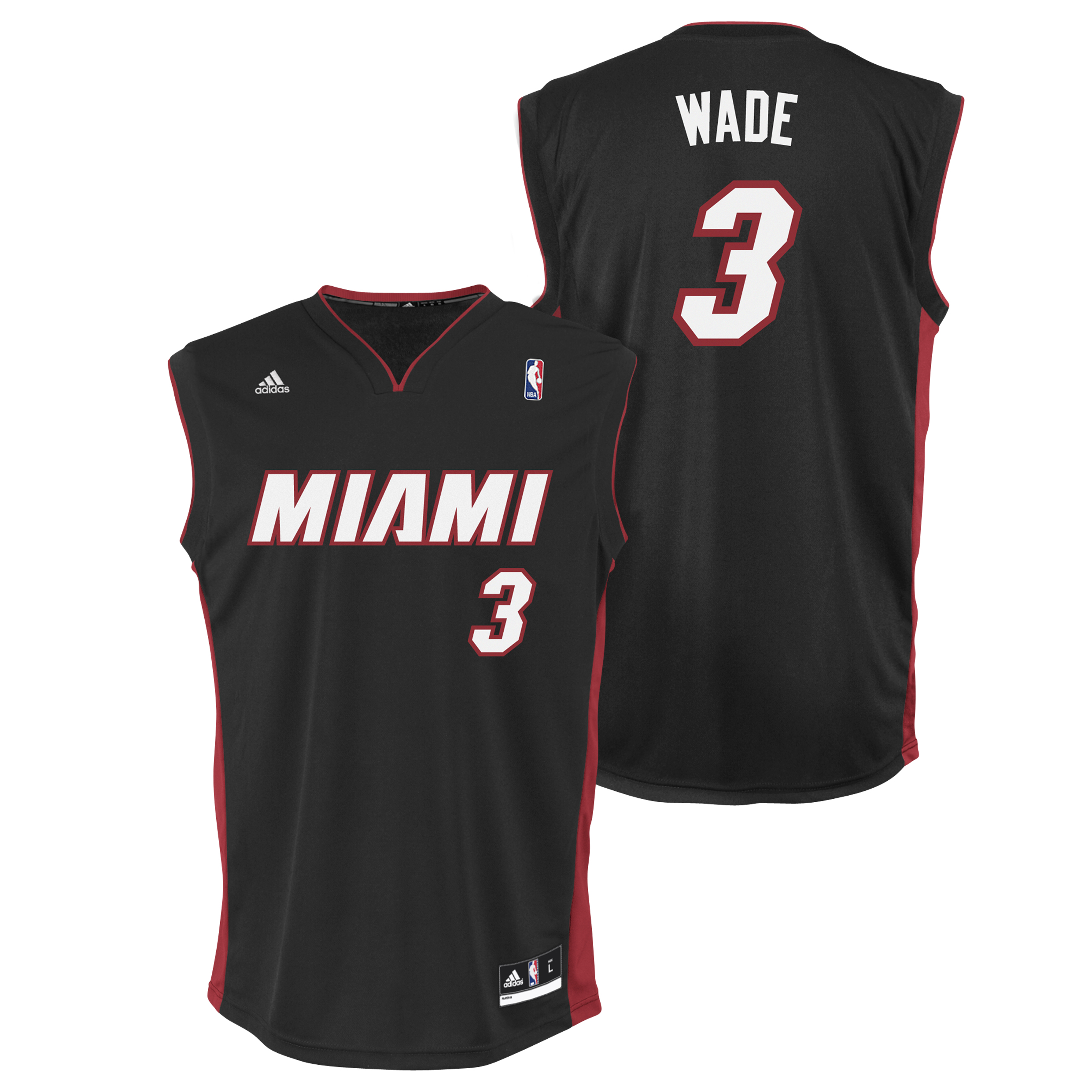 Miami Heat Road Replica Jersey - Dwayne Wade - Mens