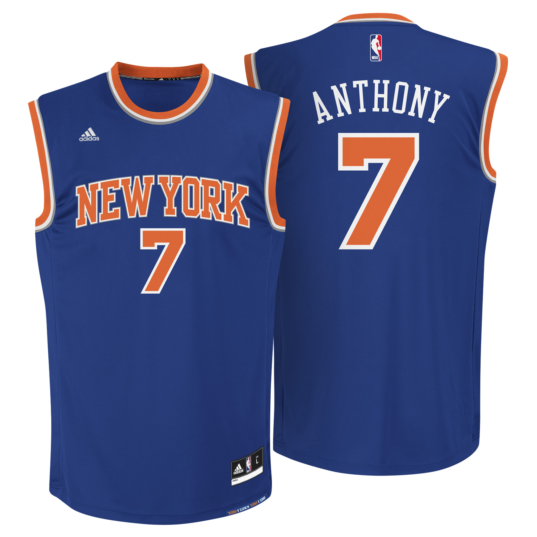 New York Knicks Road Replica Jersey - Carmelo Anthony - Mens