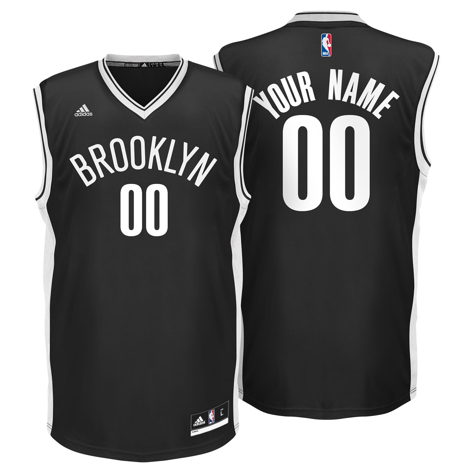 Brooklyn Nets Road Replica Jersey - Custom - Mens
