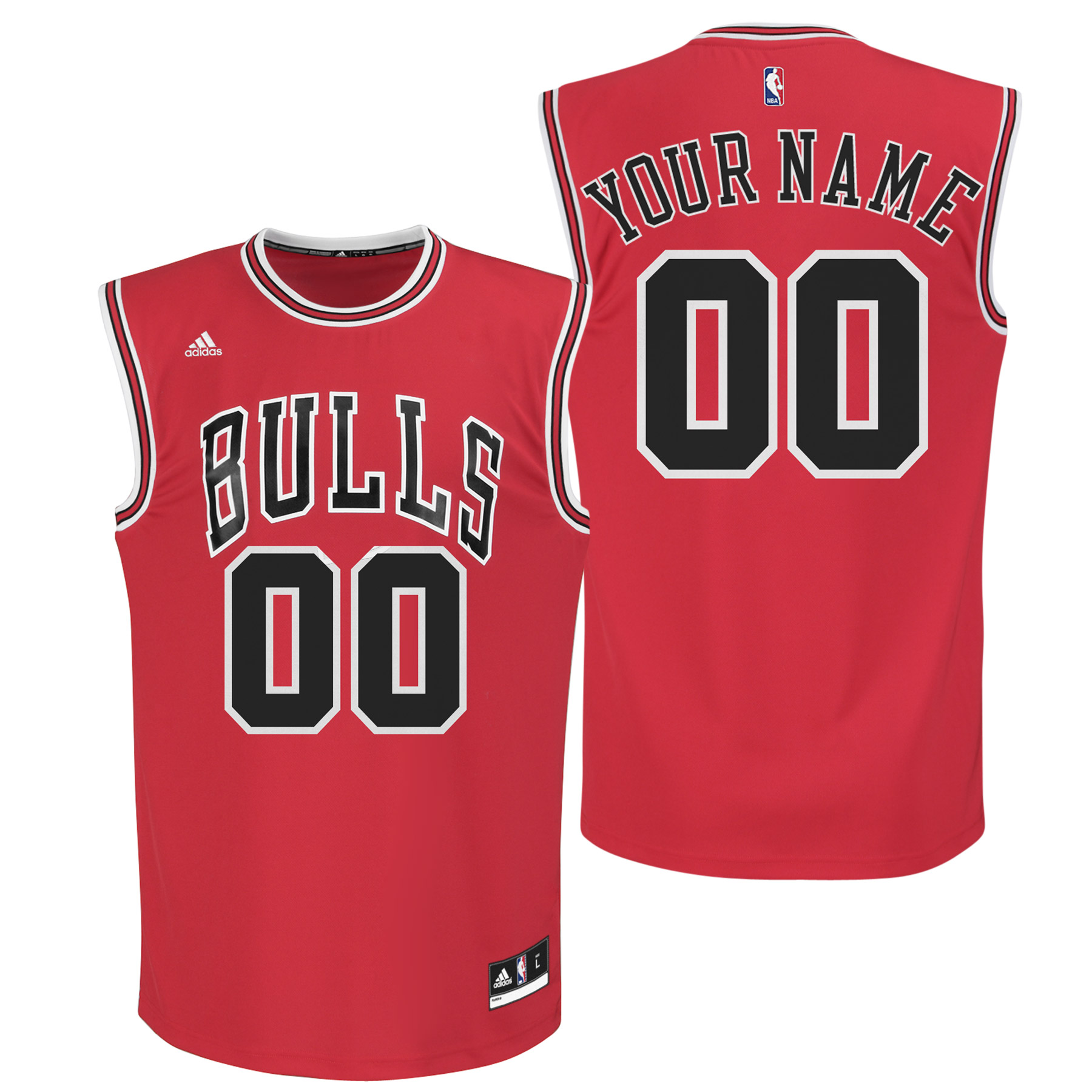 Chicago Bulls Road Replica Jersey - Custom - Mens