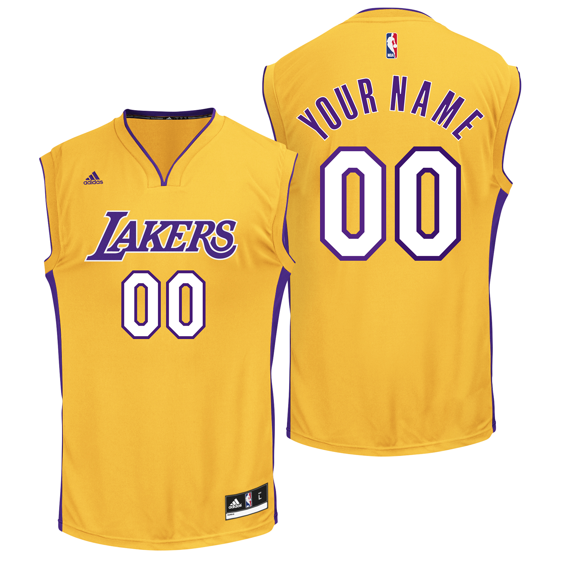 Los Angeles Lakers Home Gold Replica Jersey - Custom - Mens