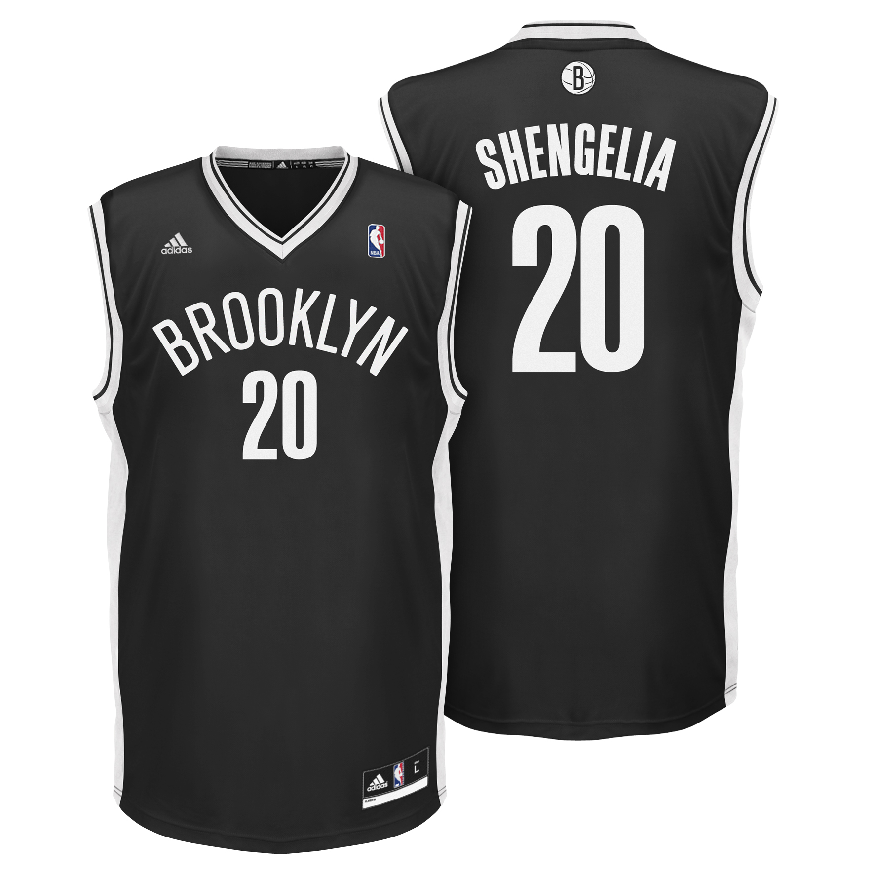 Brooklyn Nets Road Replica Jersey - TorShengelia - Mens