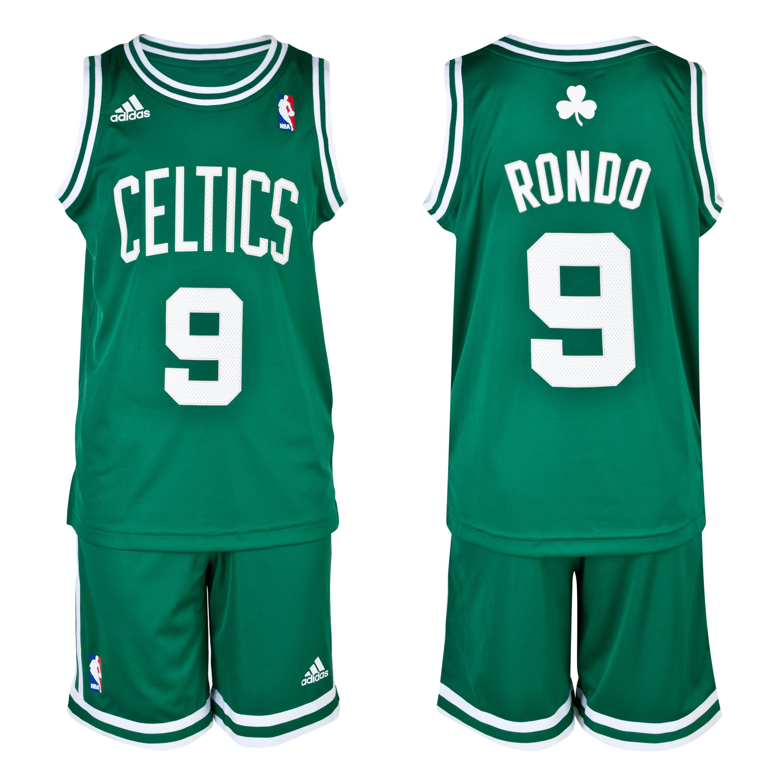 Boston Celtics Road Replica Jersey and Shorts - Rajon Rondo - Junior