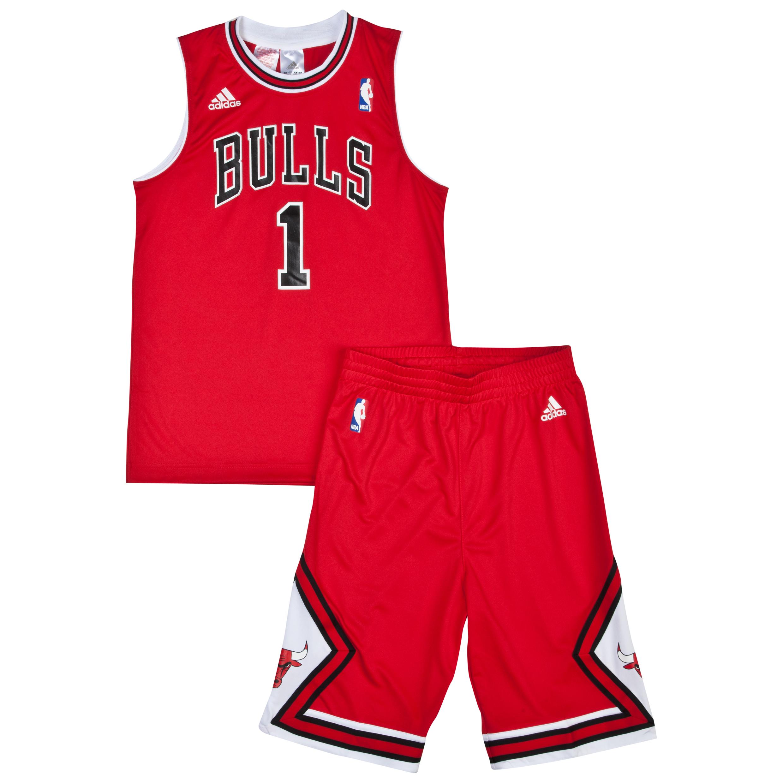 Chicago Bulls Road Replica Jersey and Shorts - Derrick Rose - Junior