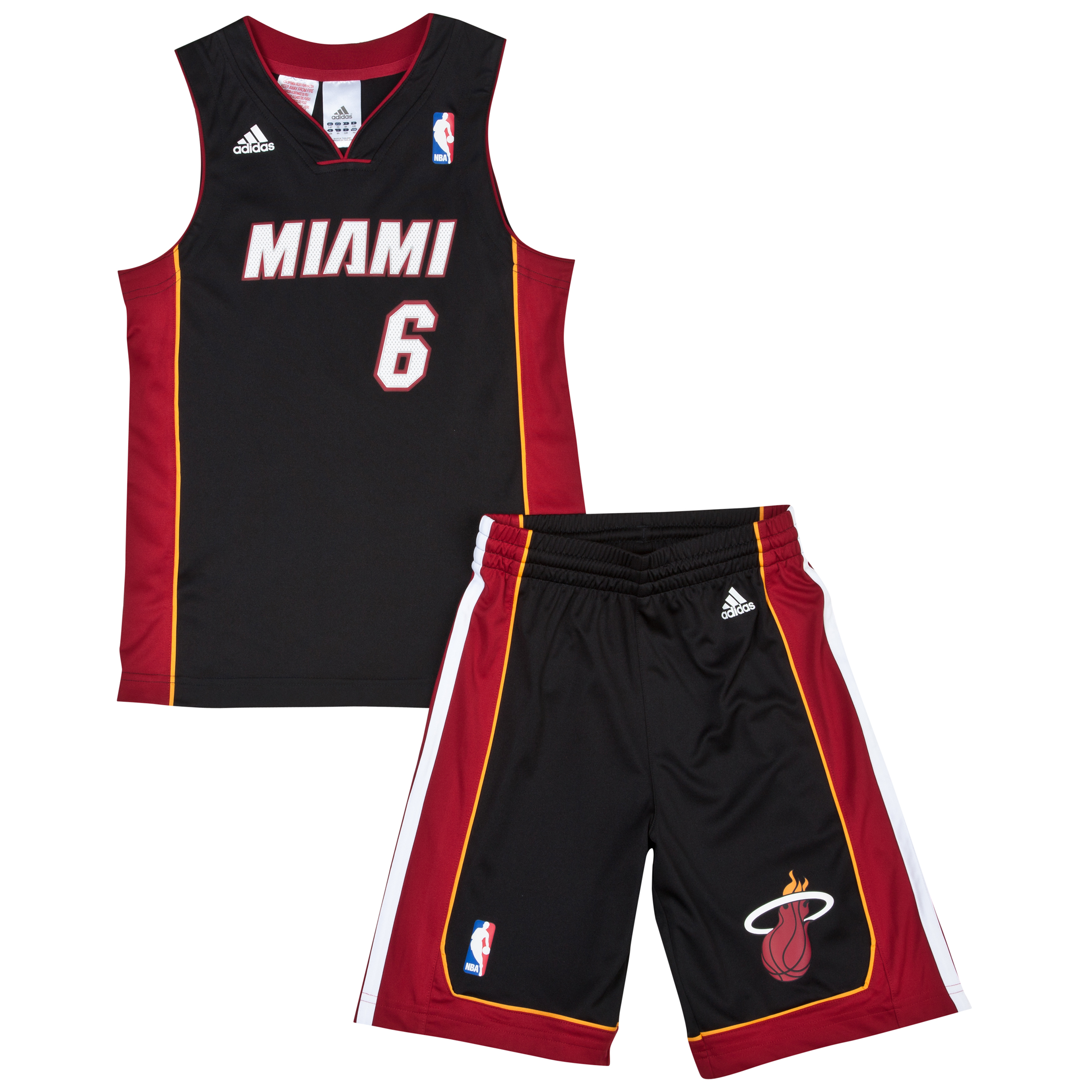 Miami Heat Road Replica Jersey & Shorts - Lebron James - Junior
