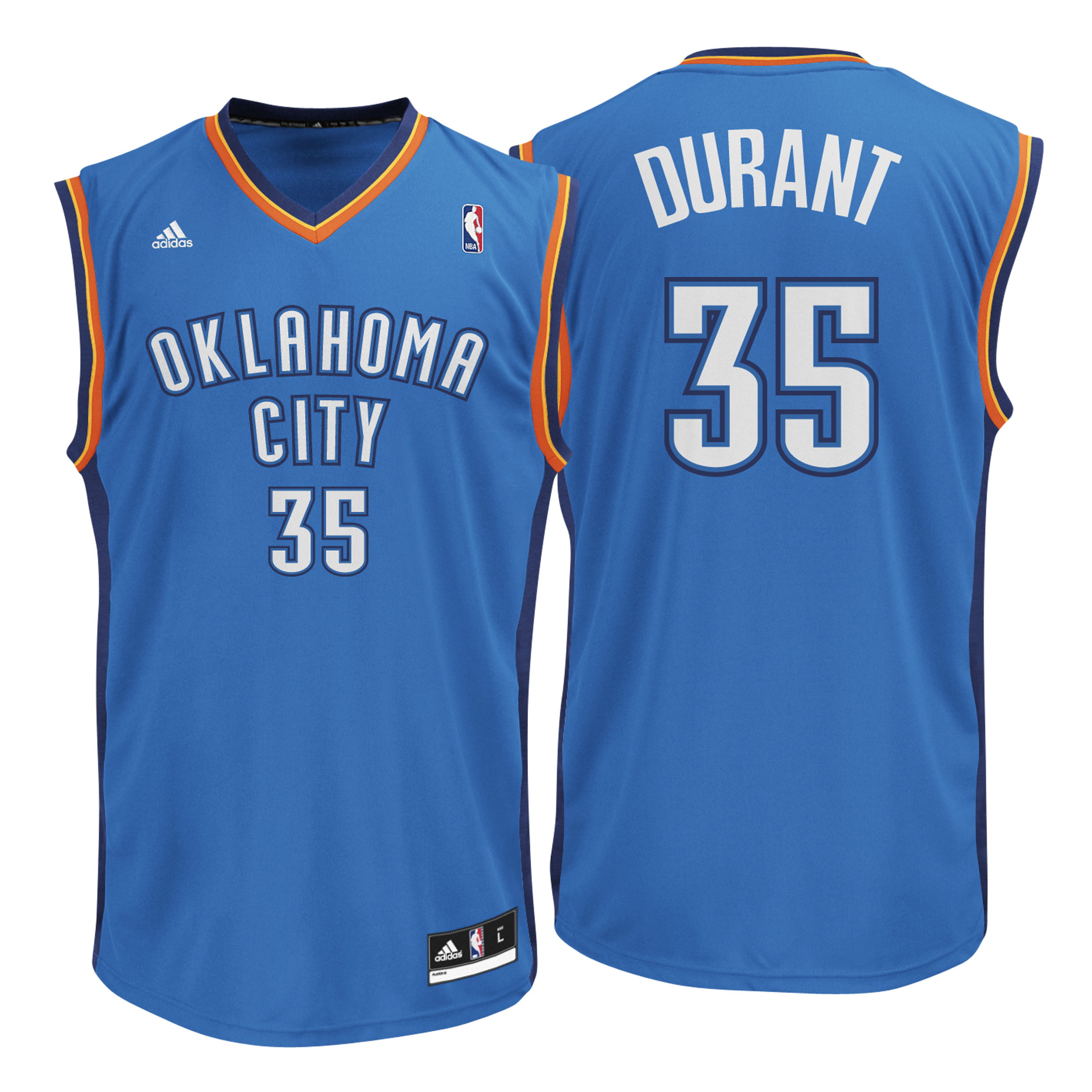Oklahoma City Thunder Road Replica Jersey - Kevin Durant - Mens