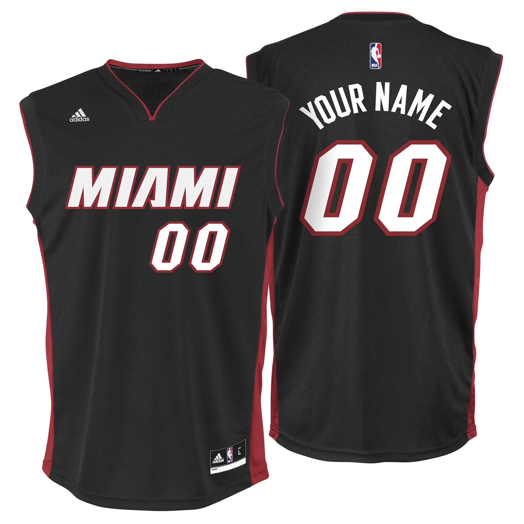 Miami Heat Road Replica Jersey -Custom - Mens