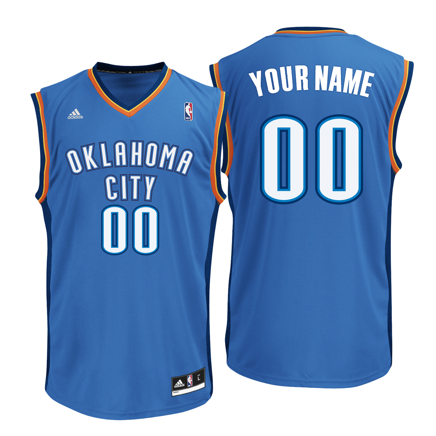 Oklahoma City Thunder Road Replica Jersey -Custom - Mens