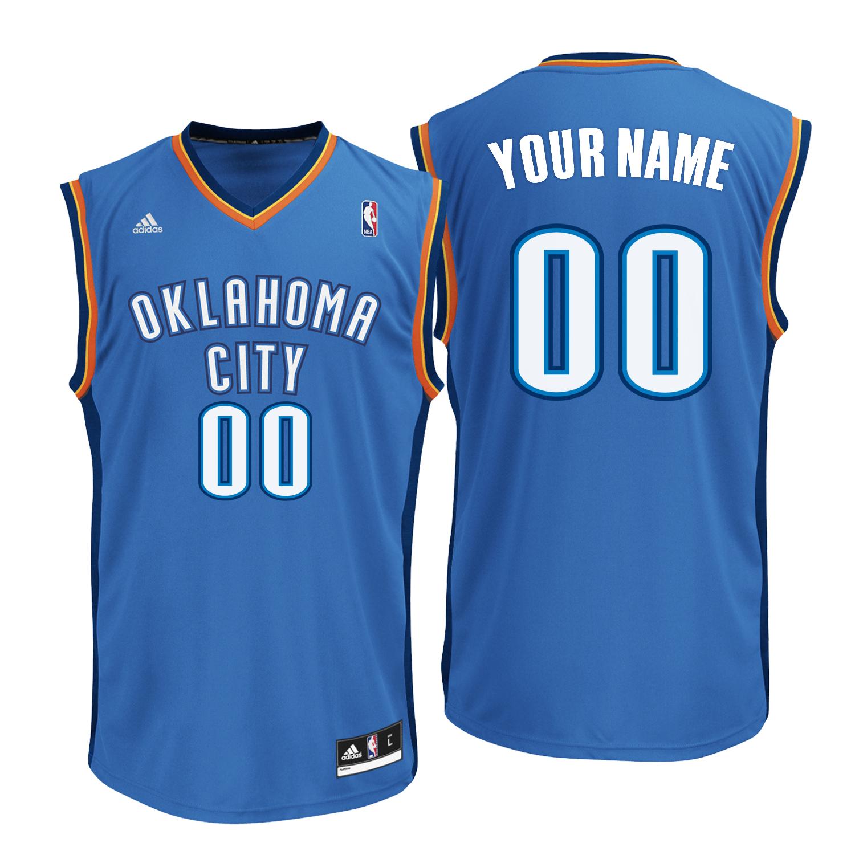 Oklahoma City Thunder Road Replica Jersey -Custom - Mens