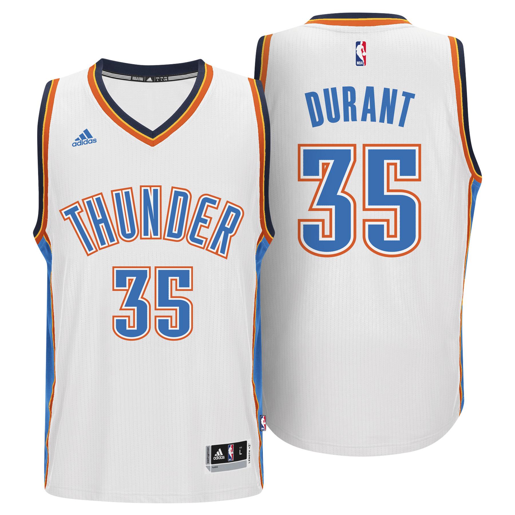 Oklahoma City Thunder Home Swingman Jersey -Kevin Durant - Mens