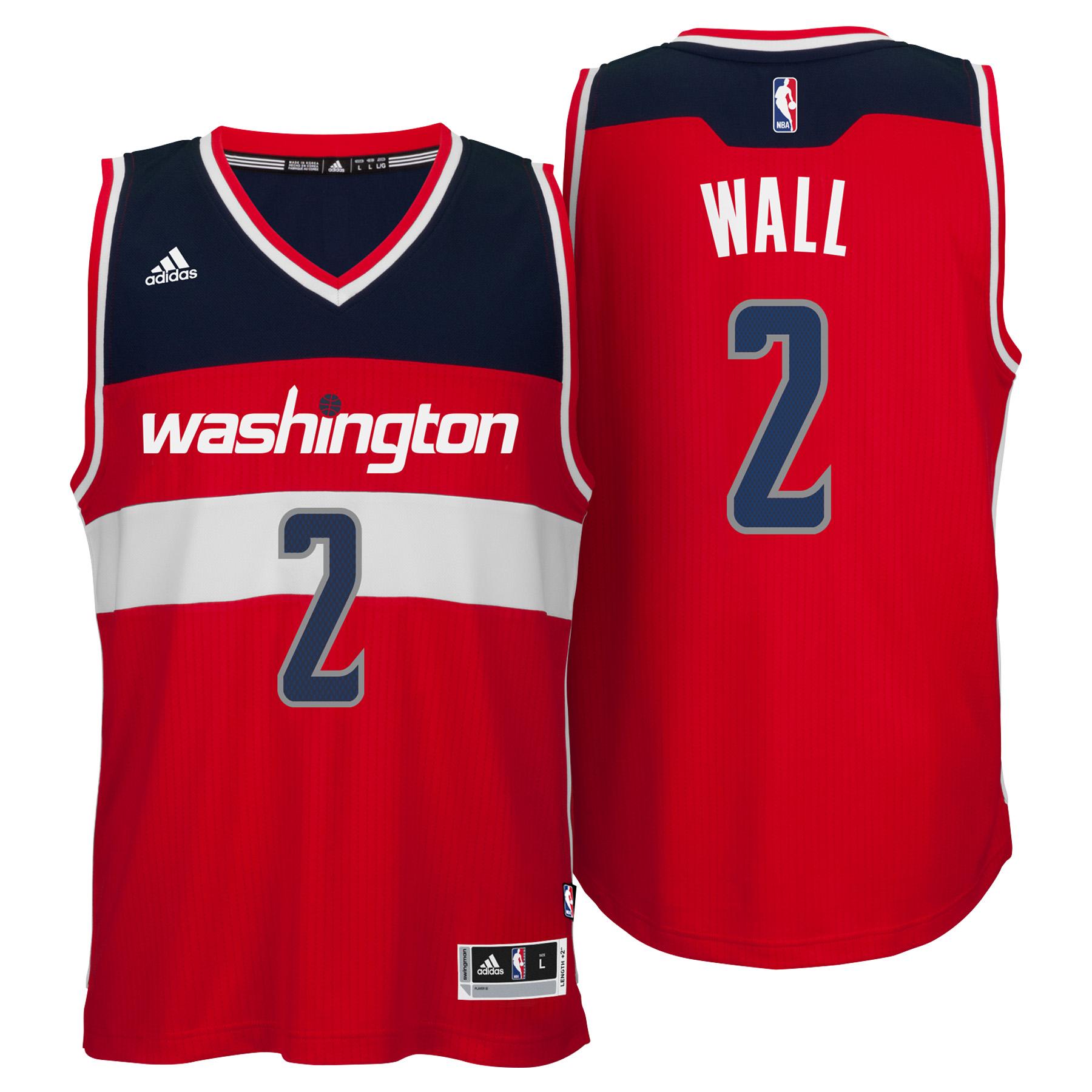 Washington Wizards Road Swingman Jersey - John Wall - Mens