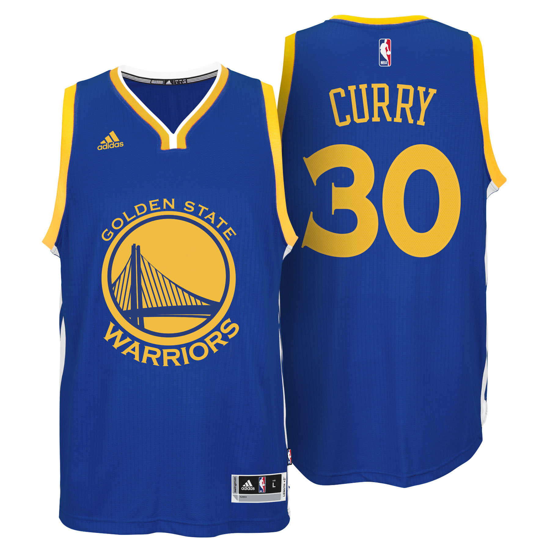 Golden State Warriors Road Swingman Jersey - Stephen Curry - Mens