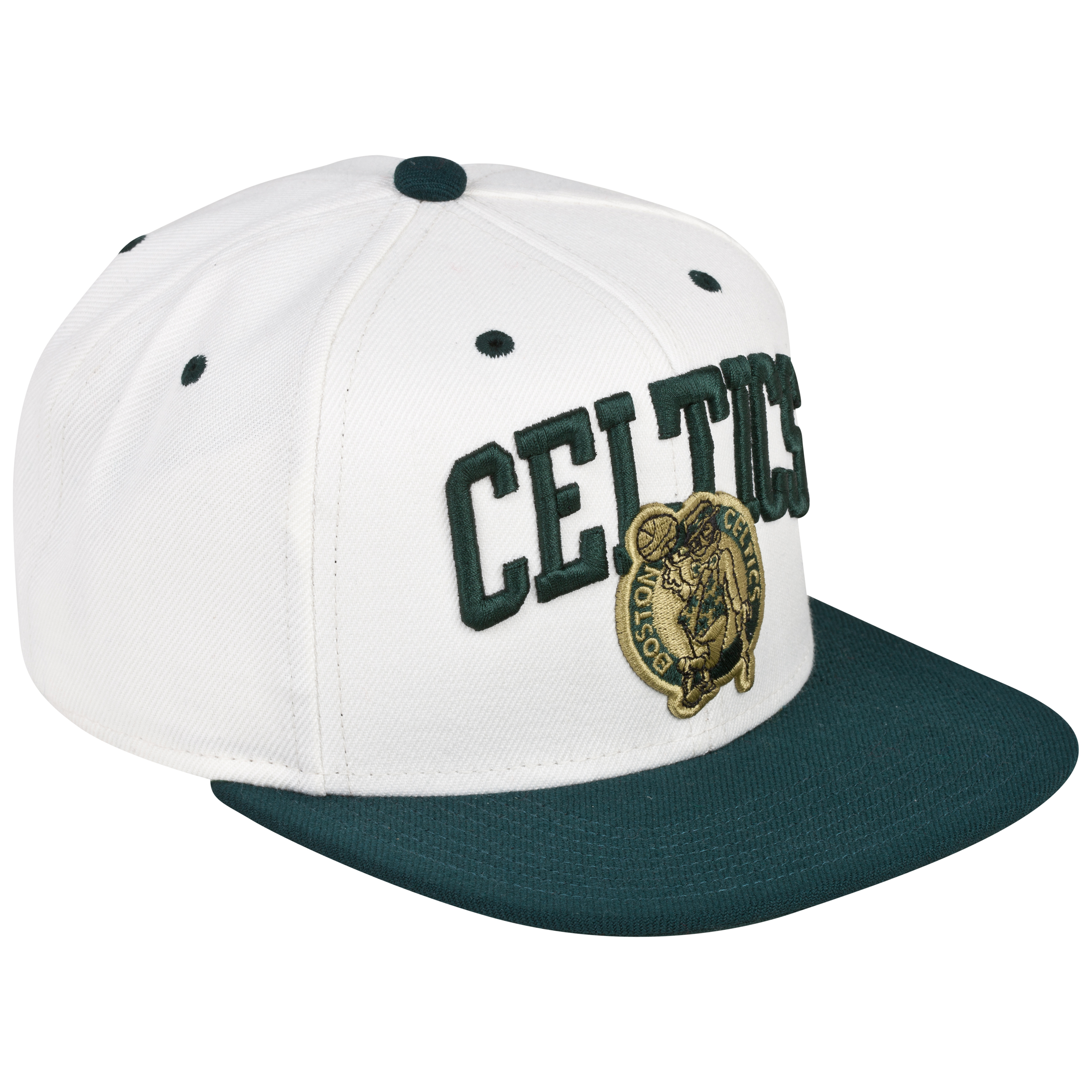 Boston Celtics Cream Arch Adjustor Snapback Cap Cream