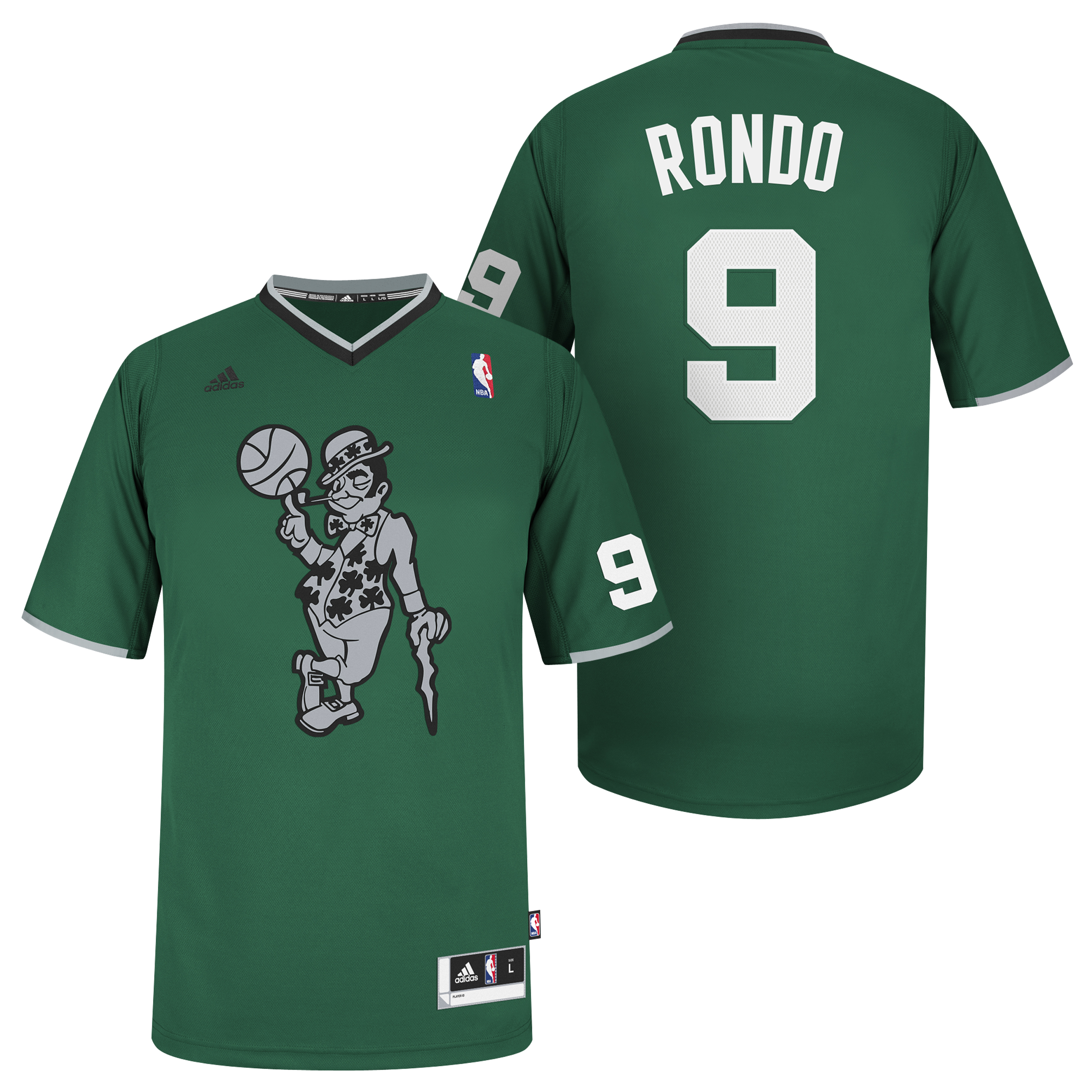 Boston Celtics X-mas Big Logo Swingman Jersey - Rajon Rondo