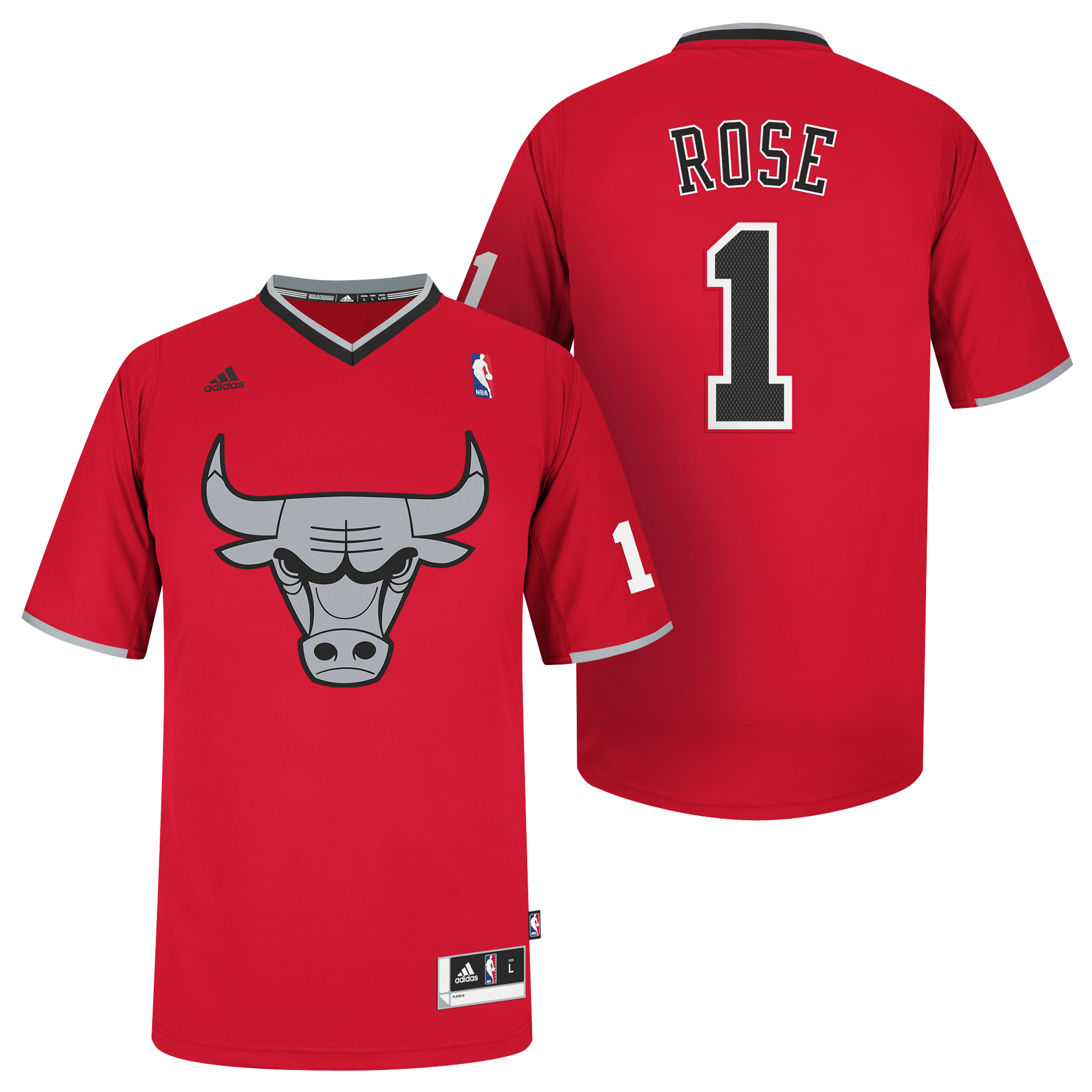 Chicago Bulls X-mas Big Logo Swingman Jersey - Derrick Rose
