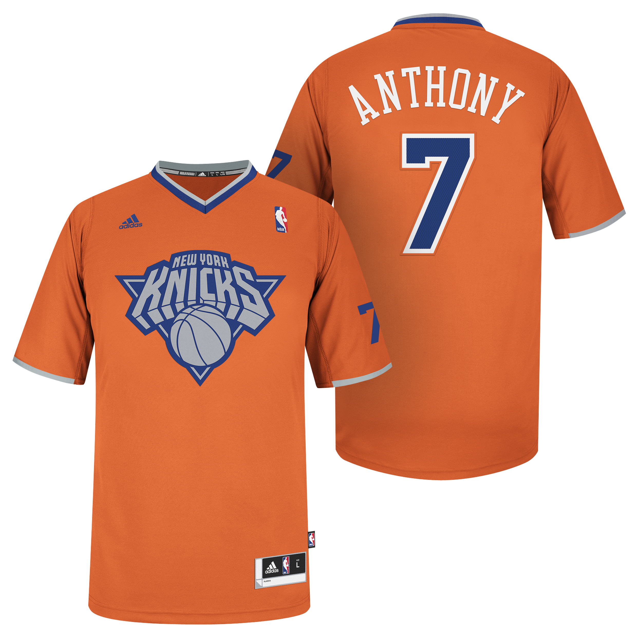 New York Knicks X-mas Big Logo Swingman Jersey - Carmelo Anthony