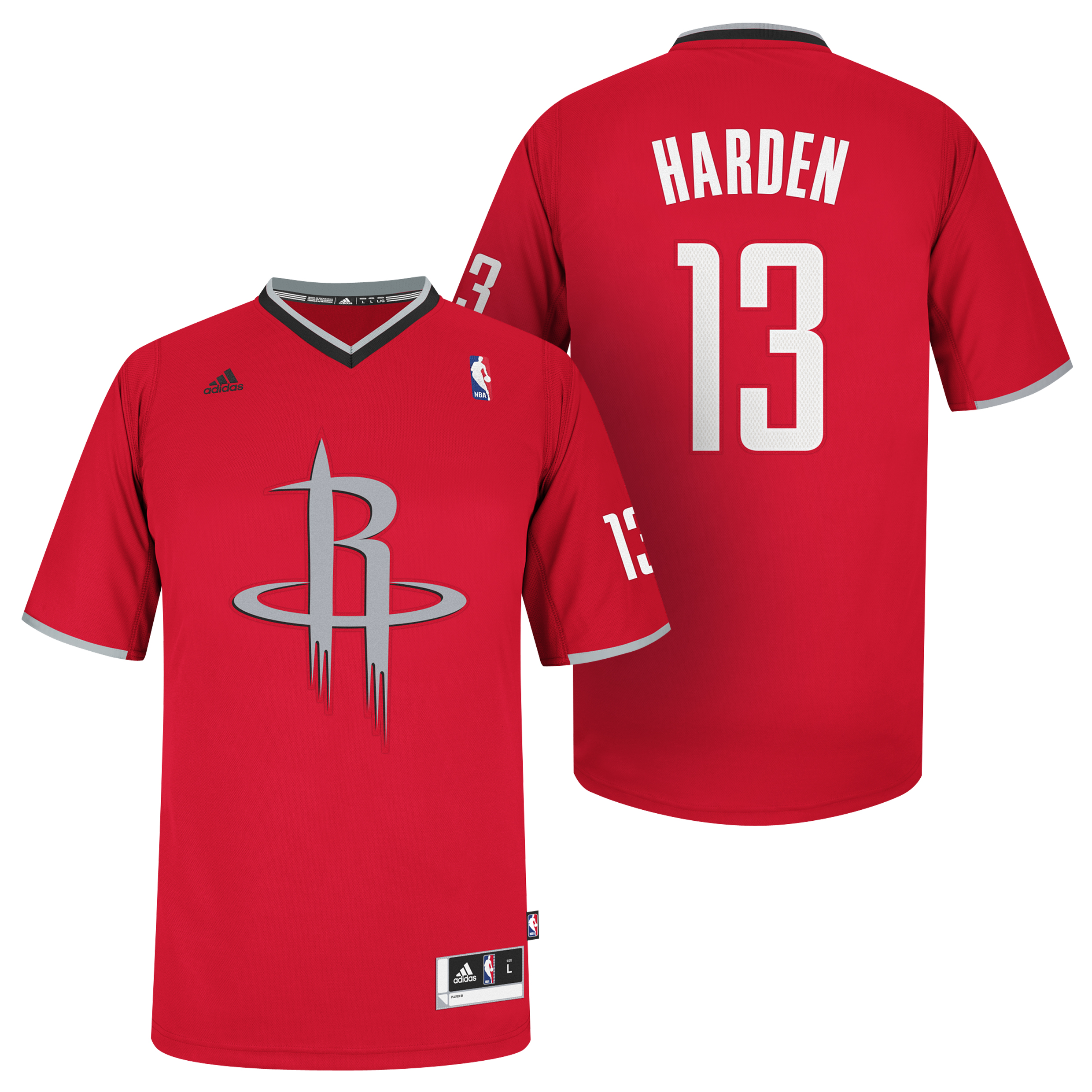 Houston Rockets X-mas Big Logo Swingman Jersey - James Harden