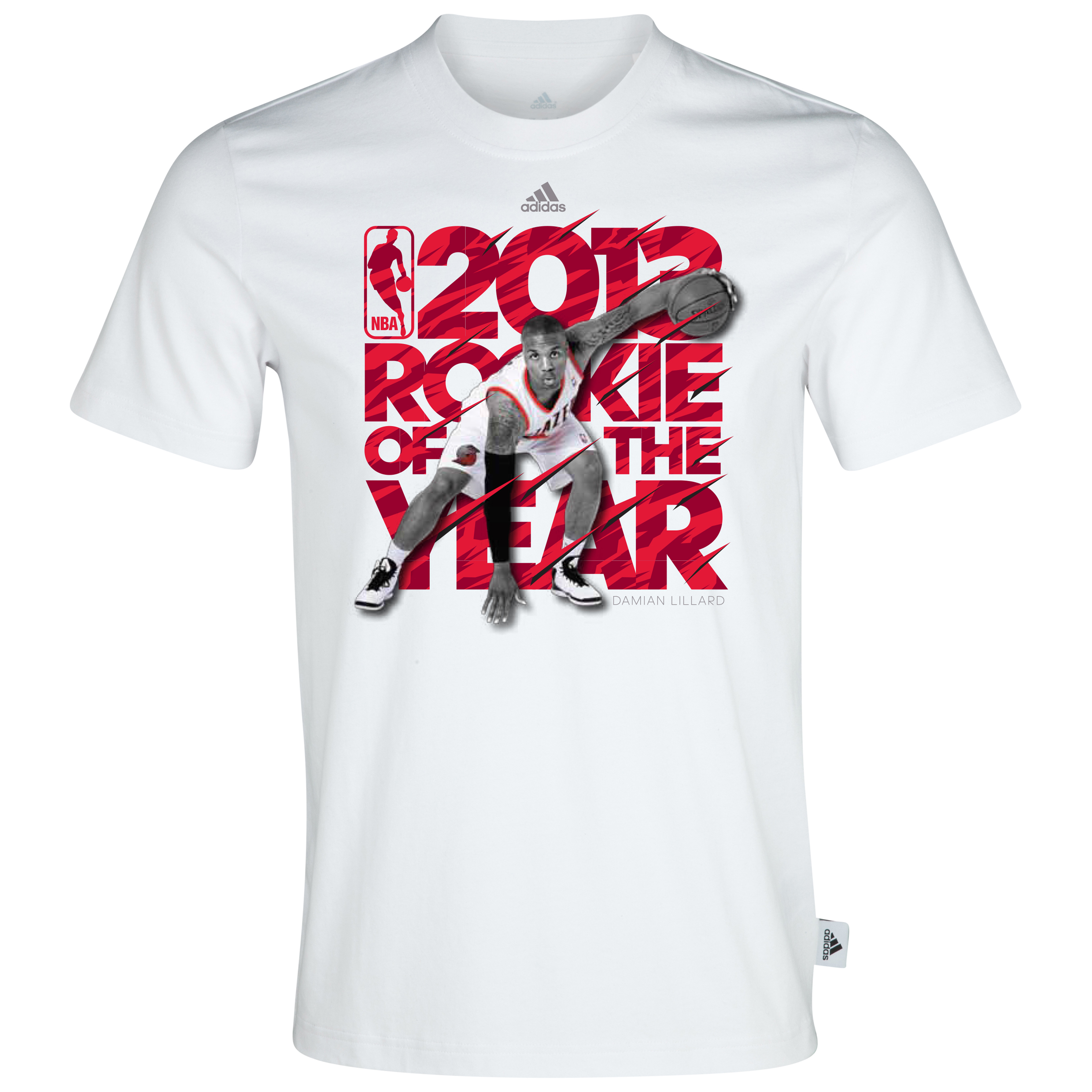 Portland Trailblazers Lillard Rookie of the Year T-Shirt White