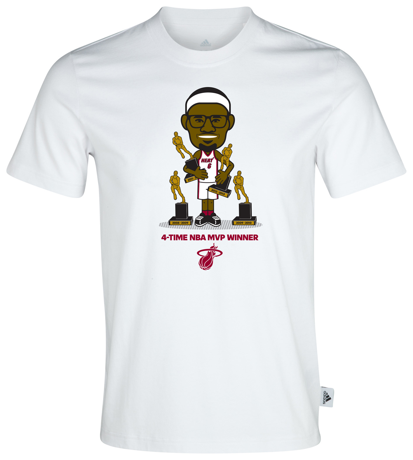 Miami Heat Lebron MVP Geek T-Shirt White