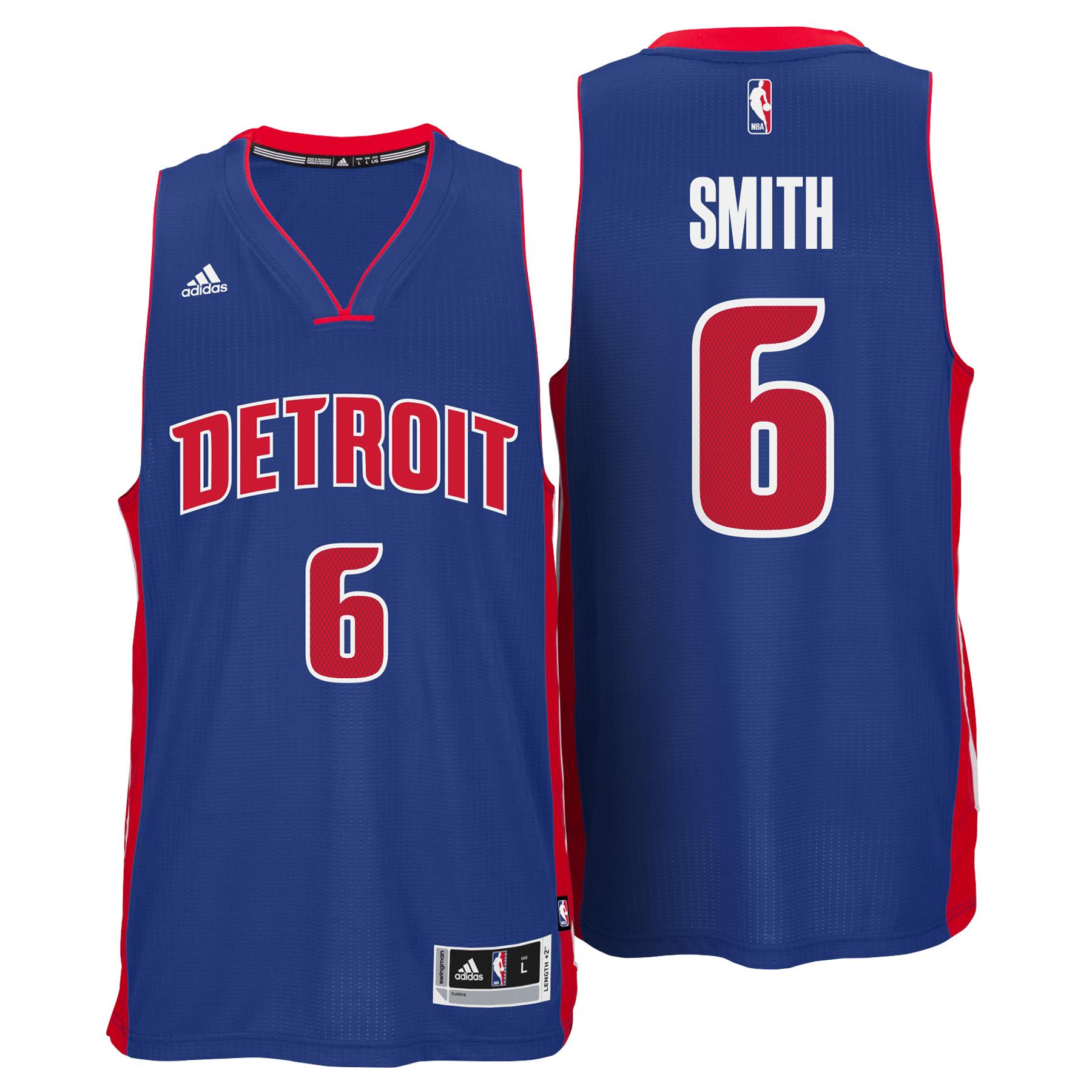 Detroit Pistons Road Swingman Jersey - Josh Smith - Mens