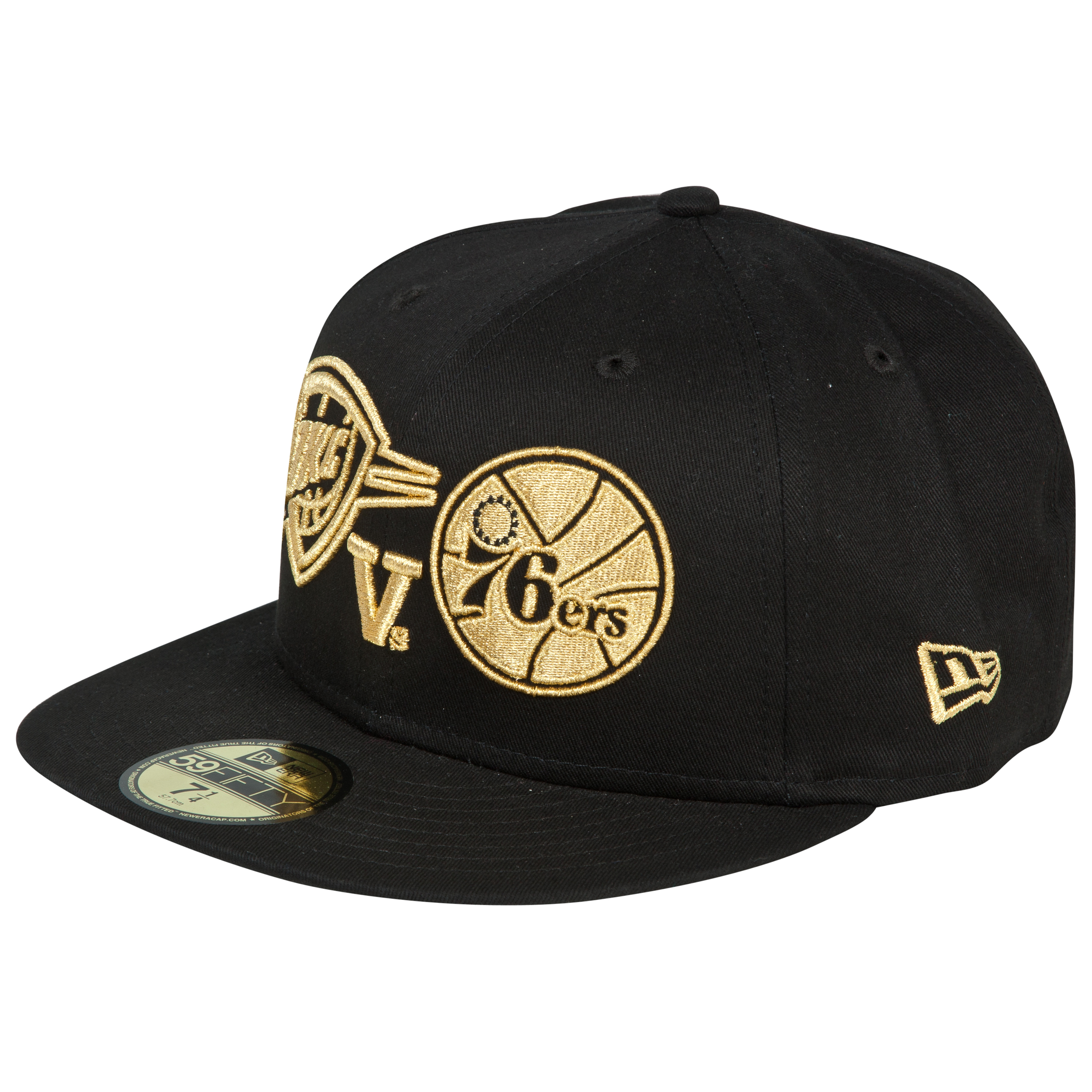 NBA Global Games Gold Logos New Era 59FIFTY Fitted Cap
