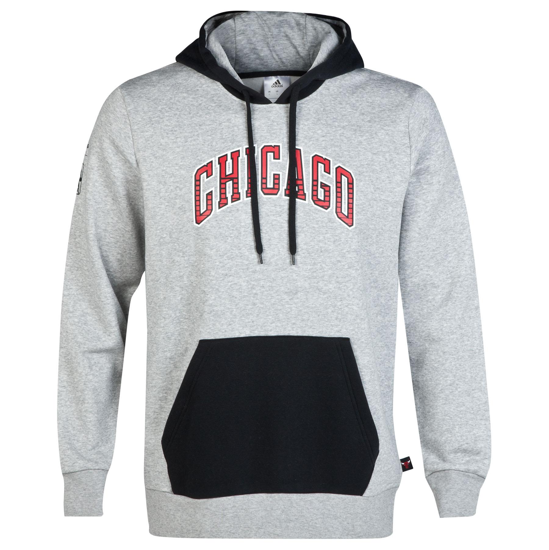 Chicago Bulls Fleece Hoodie Lt Grey