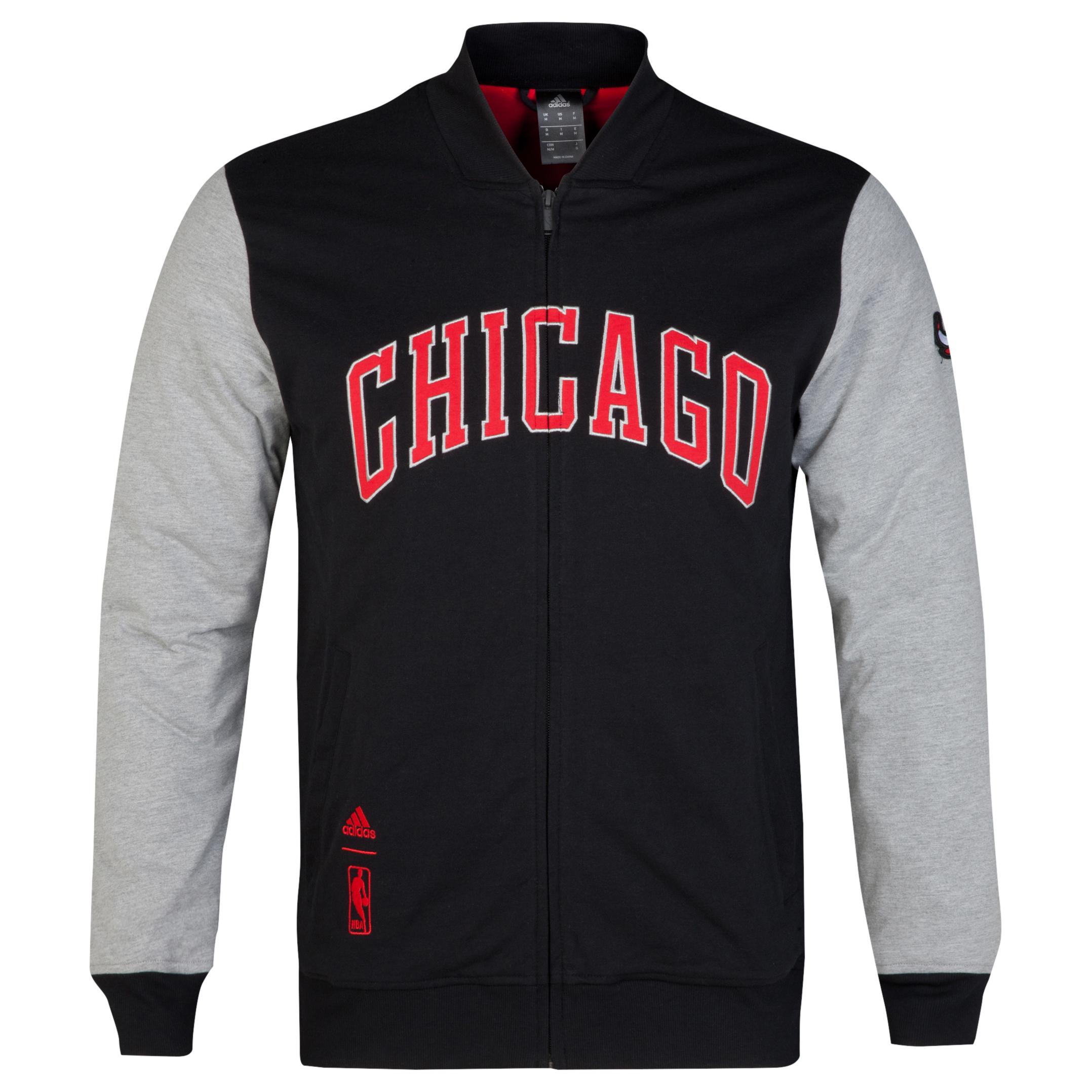 Chicago Bulls Washed Letterman jacket Black