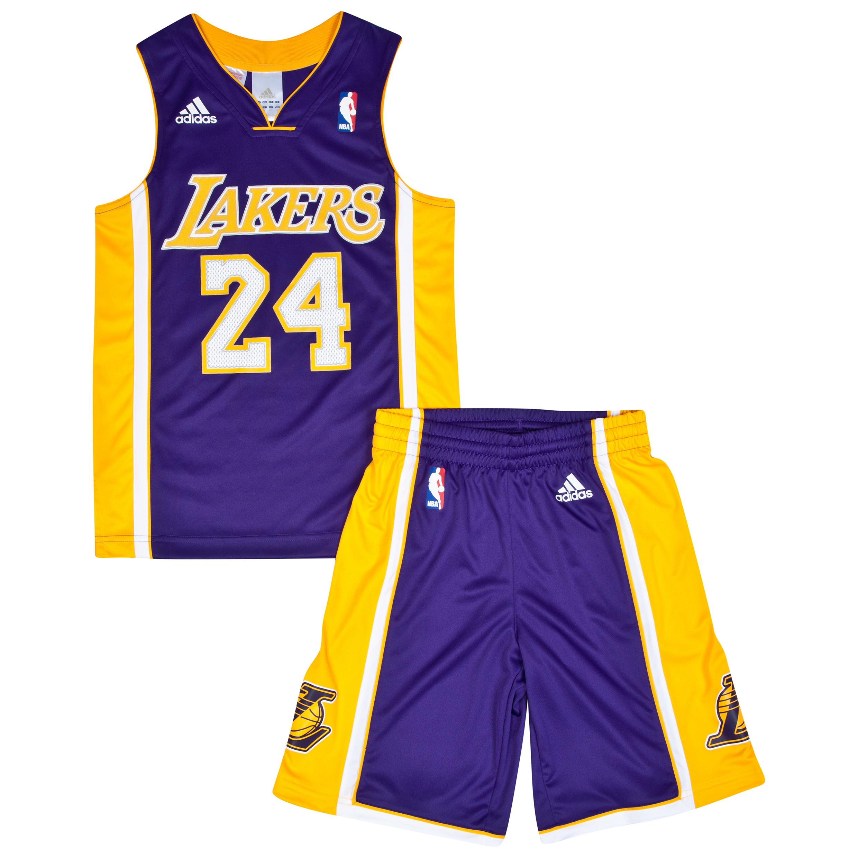 Los Angeles Lakers Road Replica Jersey & Shorts - Kobe Bryant - Junior