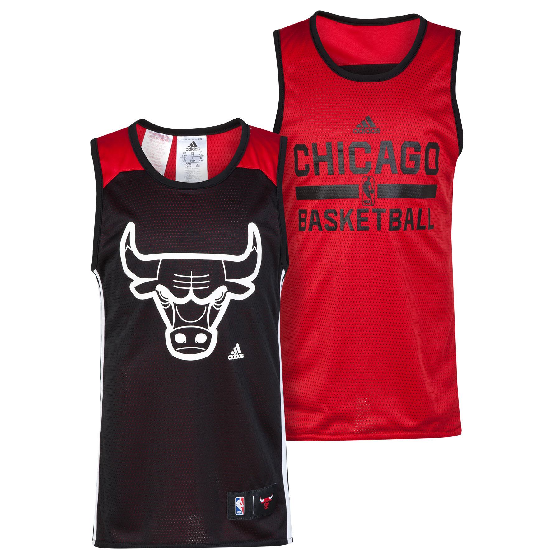 Chicago Bulls Winter Hoops Reversible Tank - Junior Black
