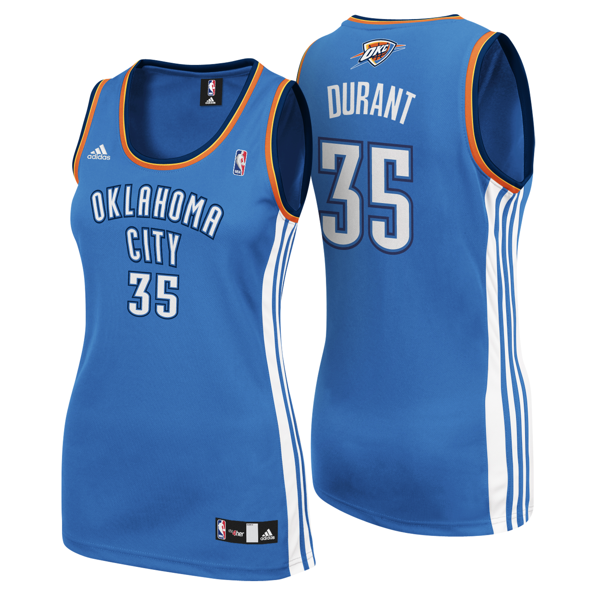 Oklahoma City Thunder Road Replica Jersey - Kevin Durant - Womens